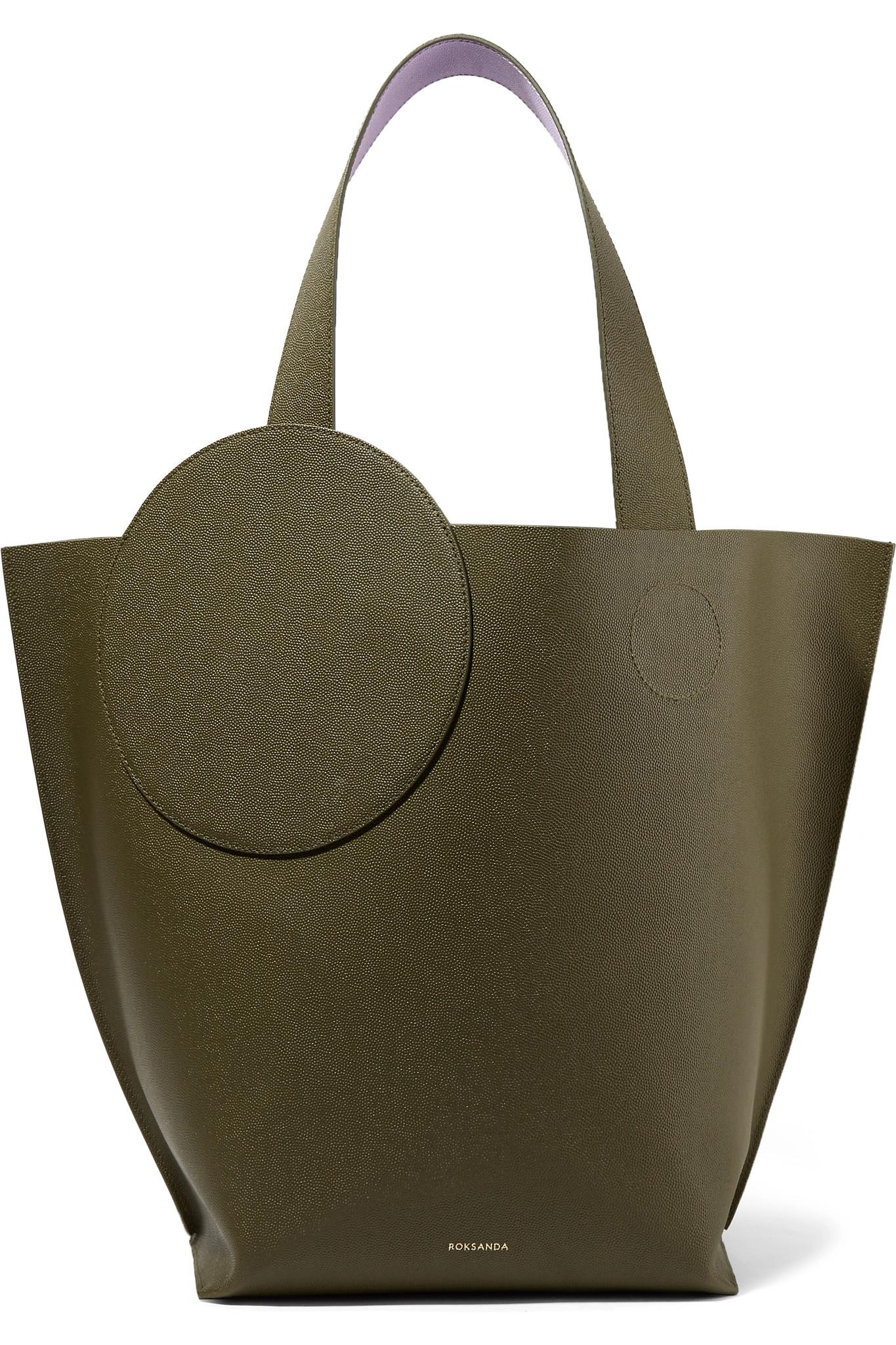 Roksanda Eider Two-tone Textured-leather Tote - Army Discount Cheapest Price Sale Shop For Buy Cheap Best Place Genuine oiSkhL