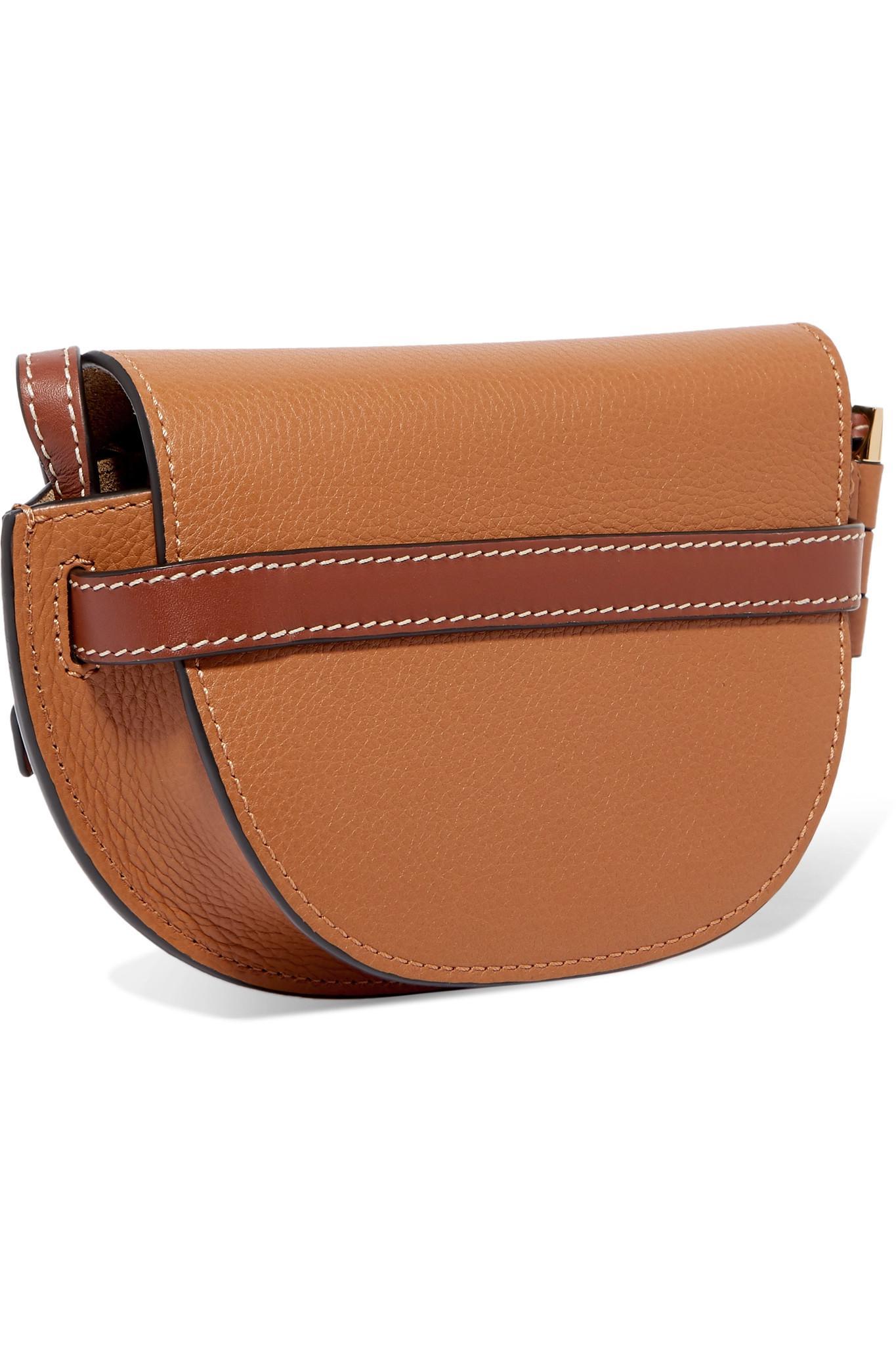 151a6f48267e Loewe - Brown Gate Mini Textured-leather Shoulder Bag - Lyst. View  fullscreen