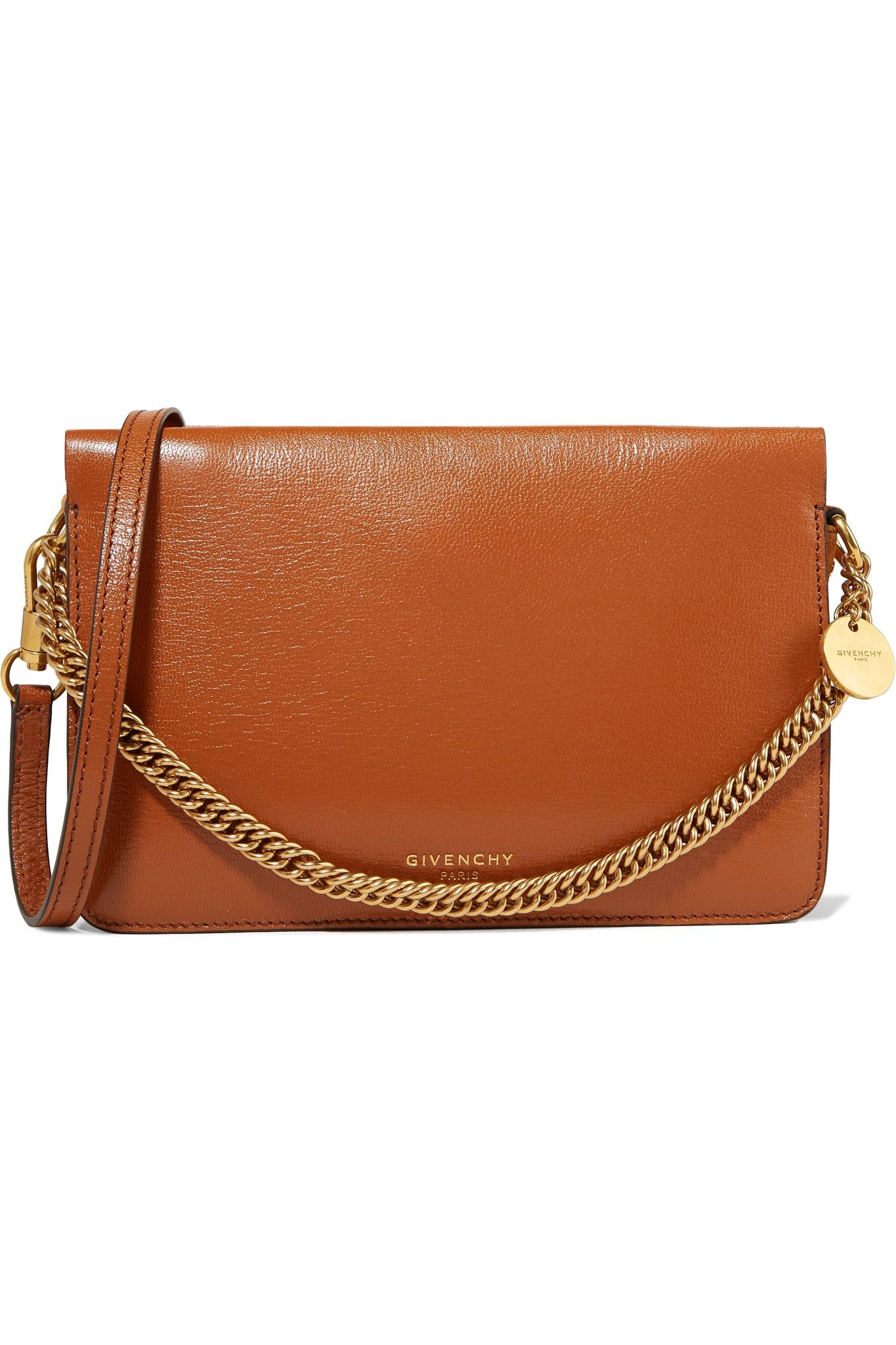 9db092aa2764 Givenchy - Brown Gv Cross Suede-trimmed Leather Shoulder Bag - Lyst. View  fullscreen
