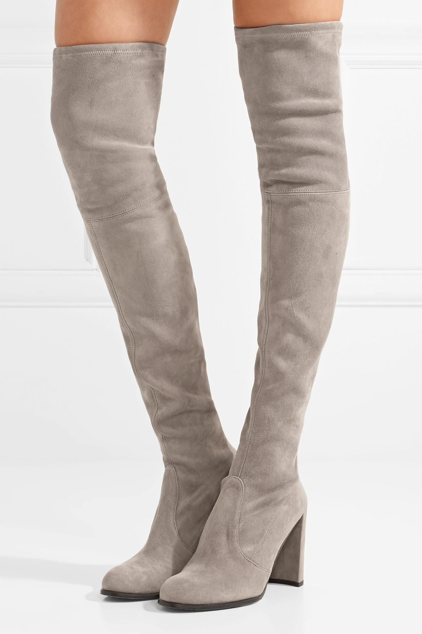011f7db166a Lyst - Stuart Weitzman Hiline Stretch-suede Over-the-knee Boots