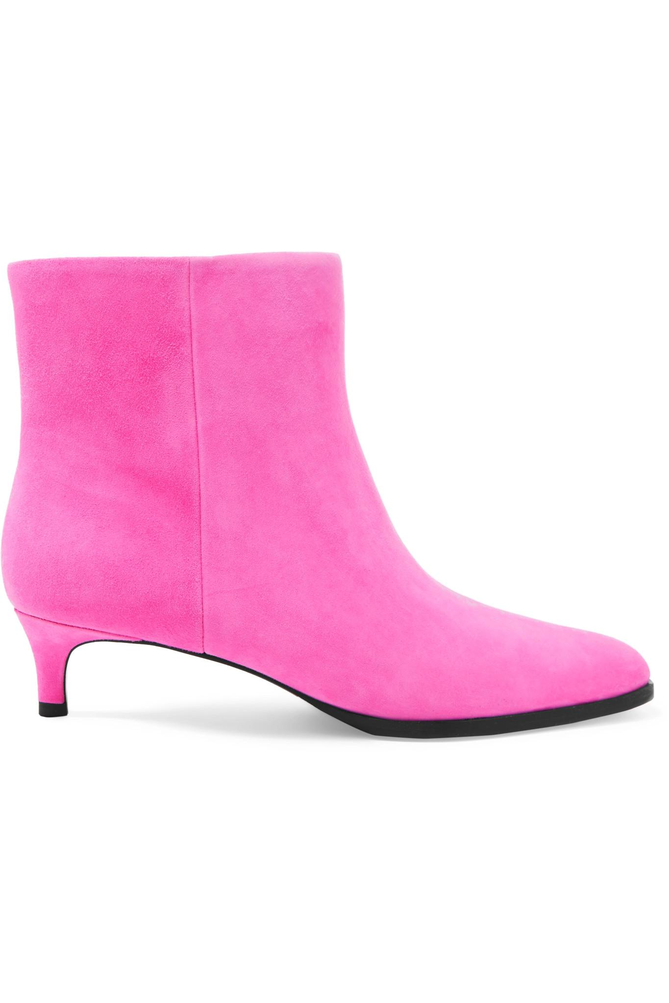 d3f239603585d Lyst - 3.1 Phillip Lim Agatha Suede Ankle Boots in Pink - Save 60%