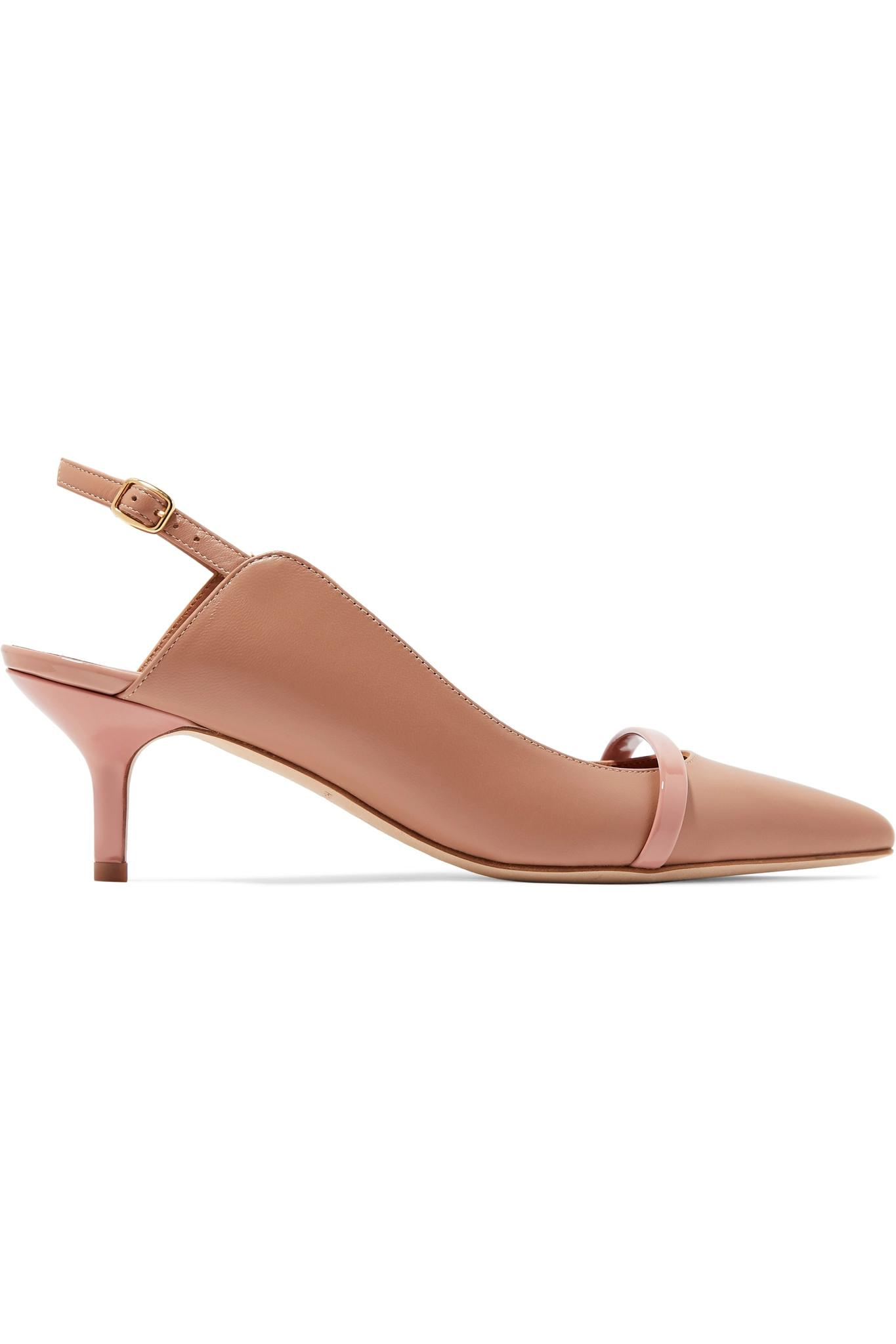 92dc6b51e Lyst - Malone Souliers Marion 45 Leather Slingback Pumps in Natural