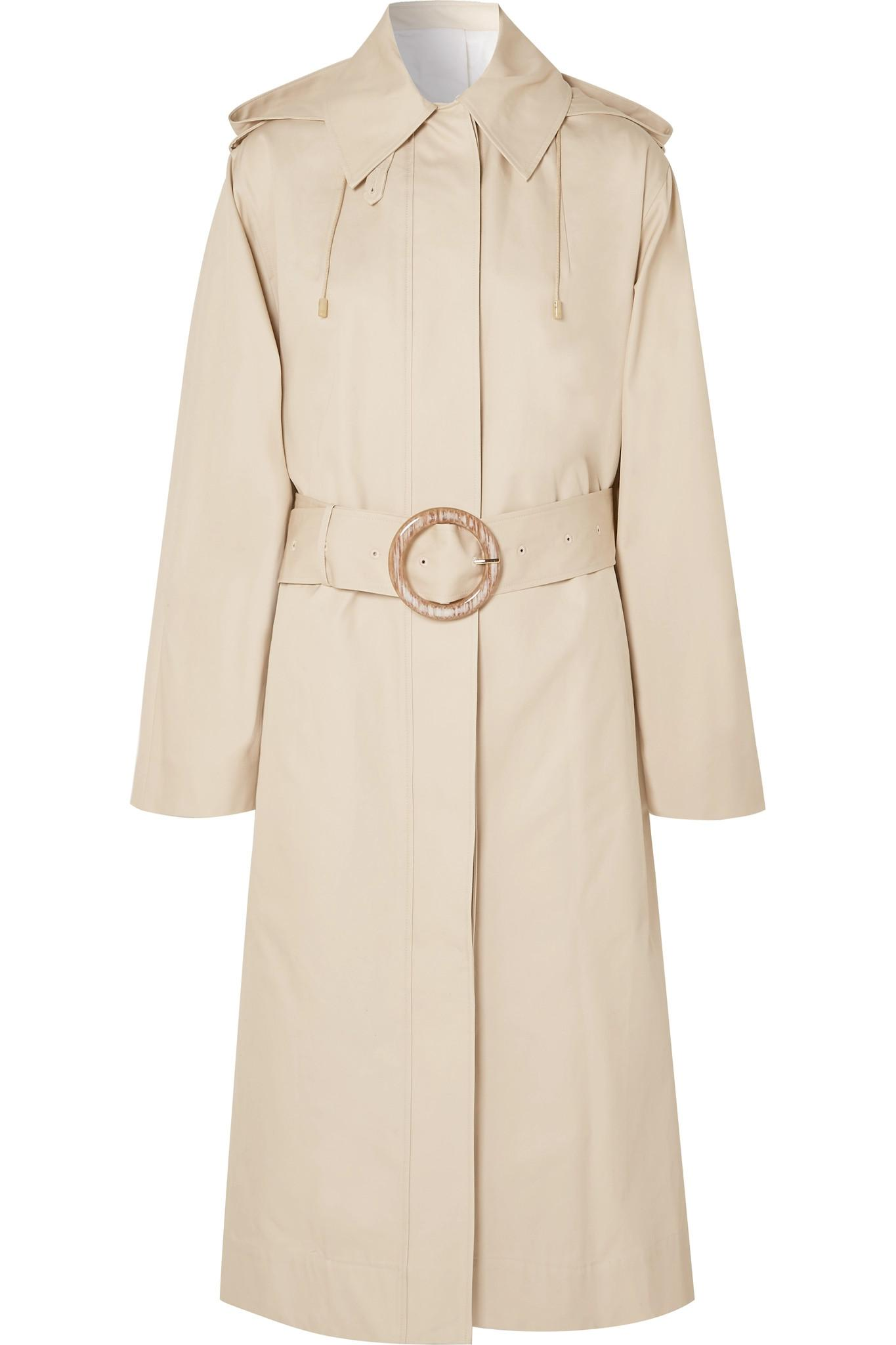 87278982bed8 Lyst - JOSEPH Carbon Hooded Cotton-garbardine Trench Coat in Natural