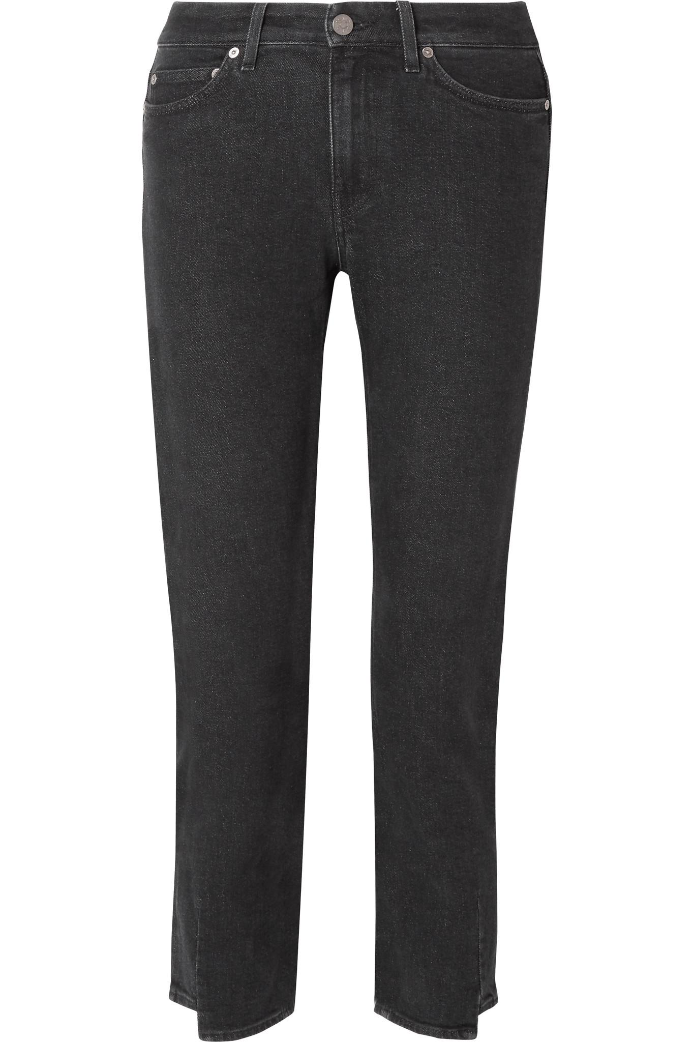 d97cc33ae2c M.i.h Jeans Niki Cropped High-rise Slim-leg Jeans in Black - Lyst