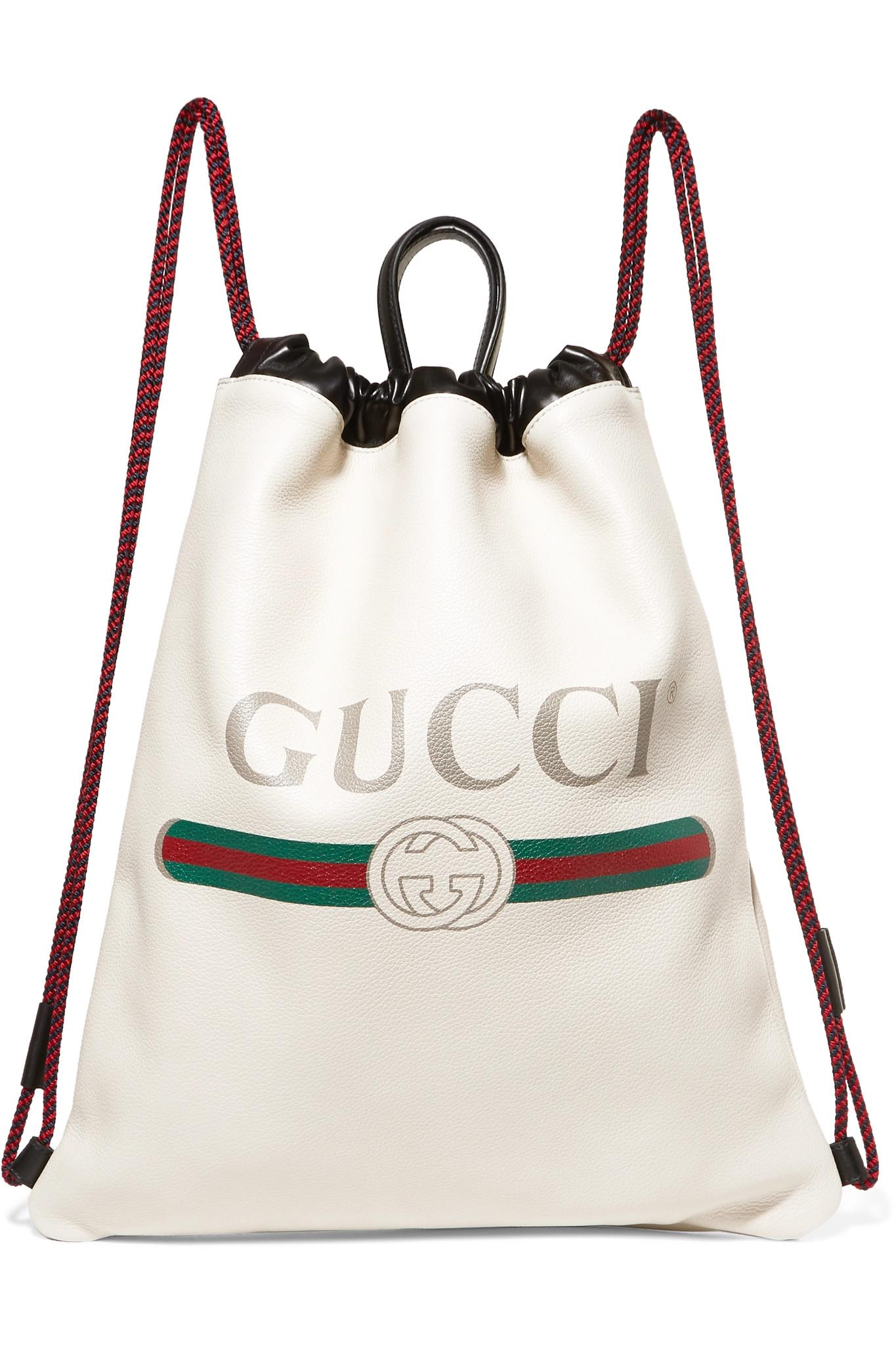 Gucci Printed Textured-leather Backpack - White ggKnM43Kql