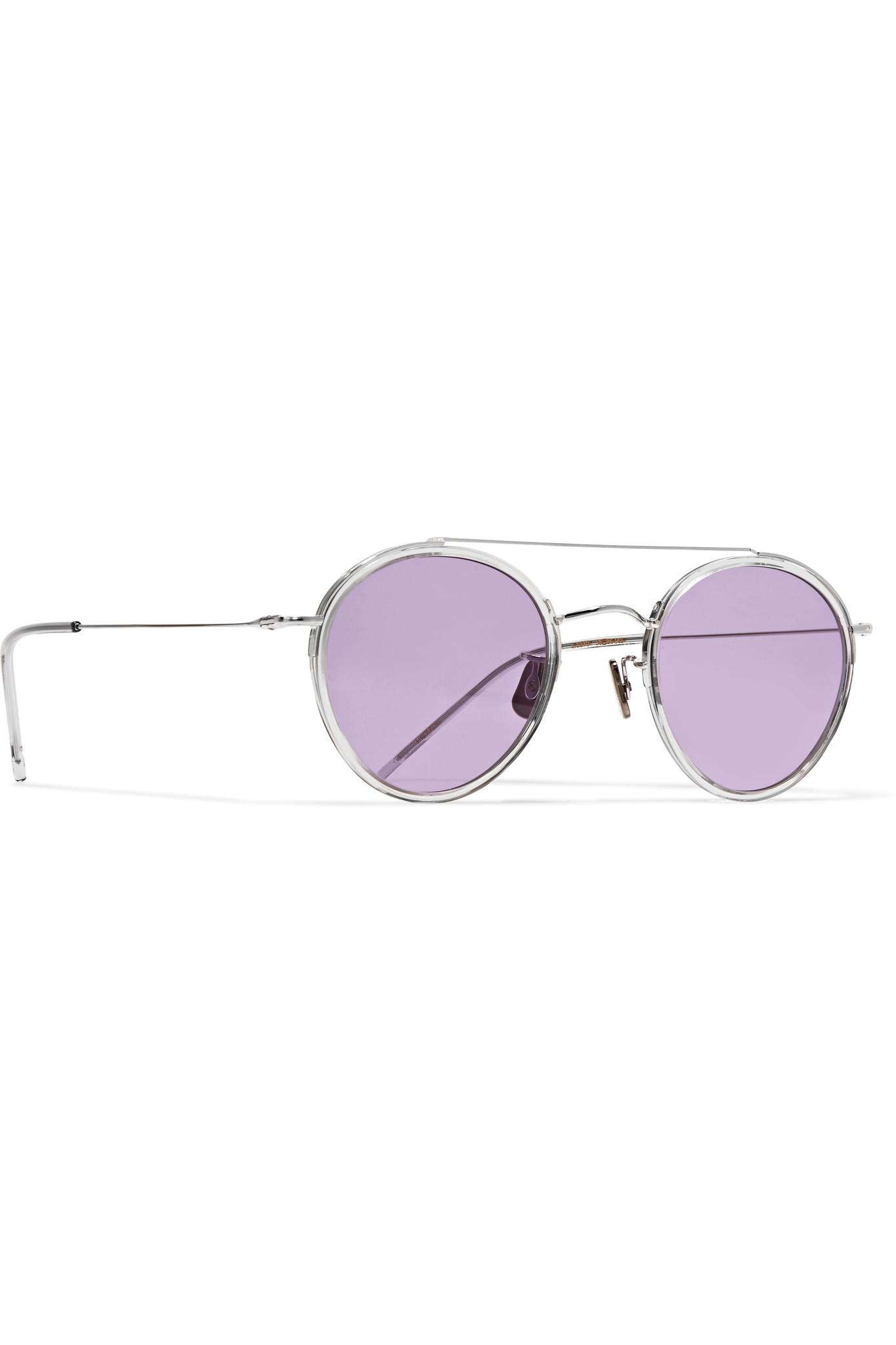 9646333d18 Lyst - Eyevan 7285 Round-frame Silver-tone Sunglasses in Metallic
