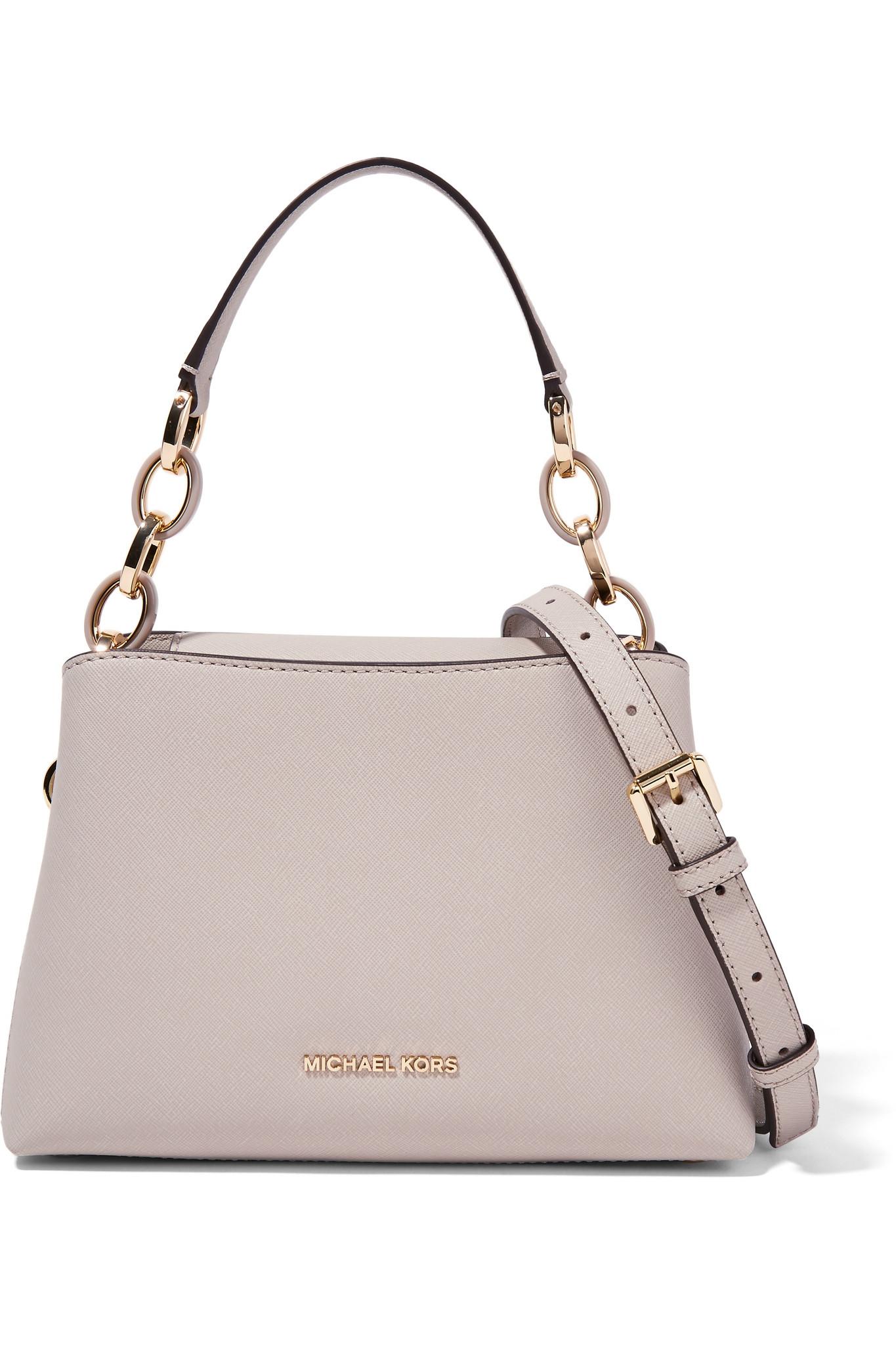 c9674b58f0cd MICHAEL Michael Kors Portia Small Textured-leather Shoulder Bag in ...