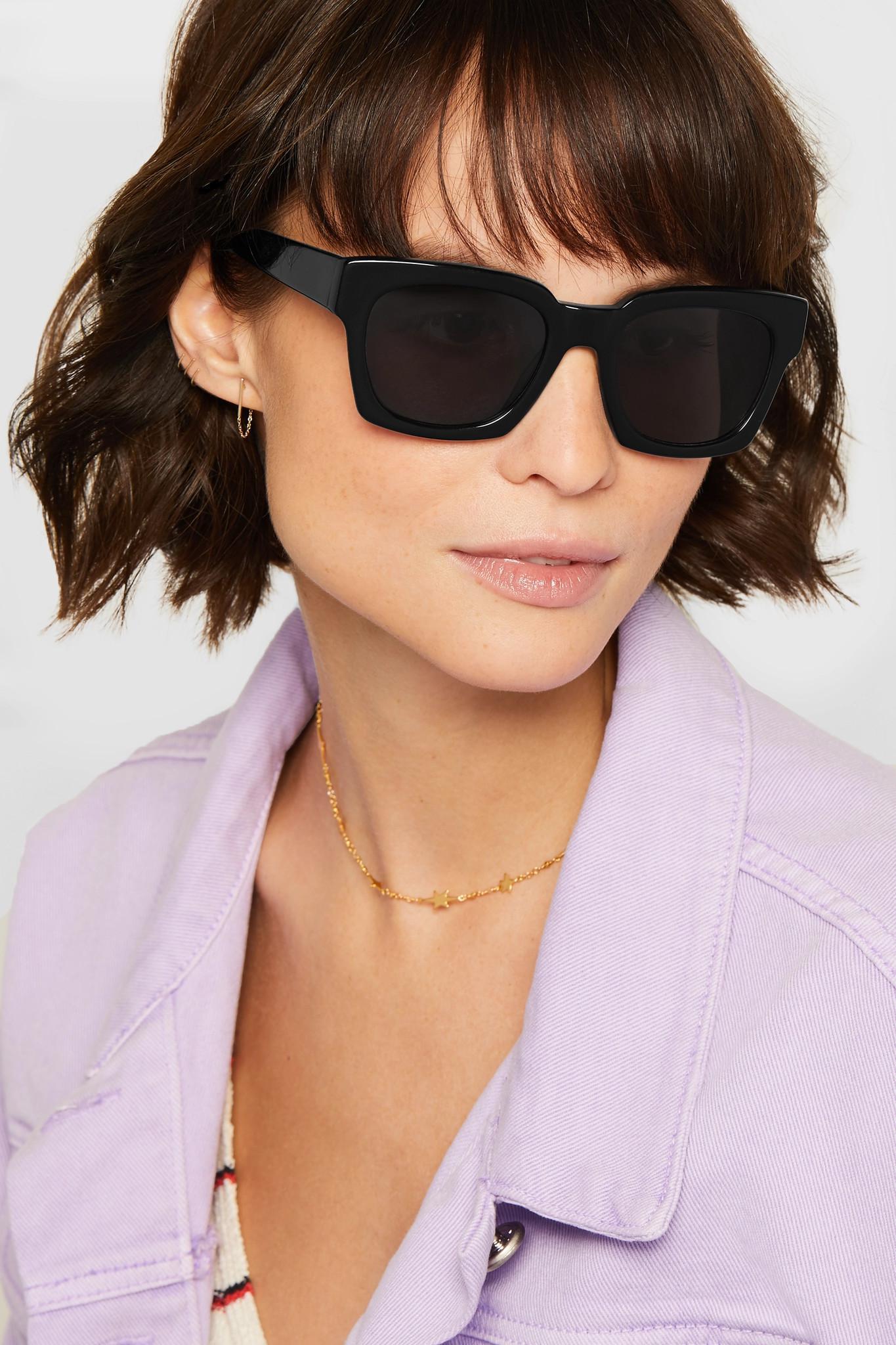 168e8fd6ff Lyst - Ganni Alice Square-frame Acetate Sunglasses in Black