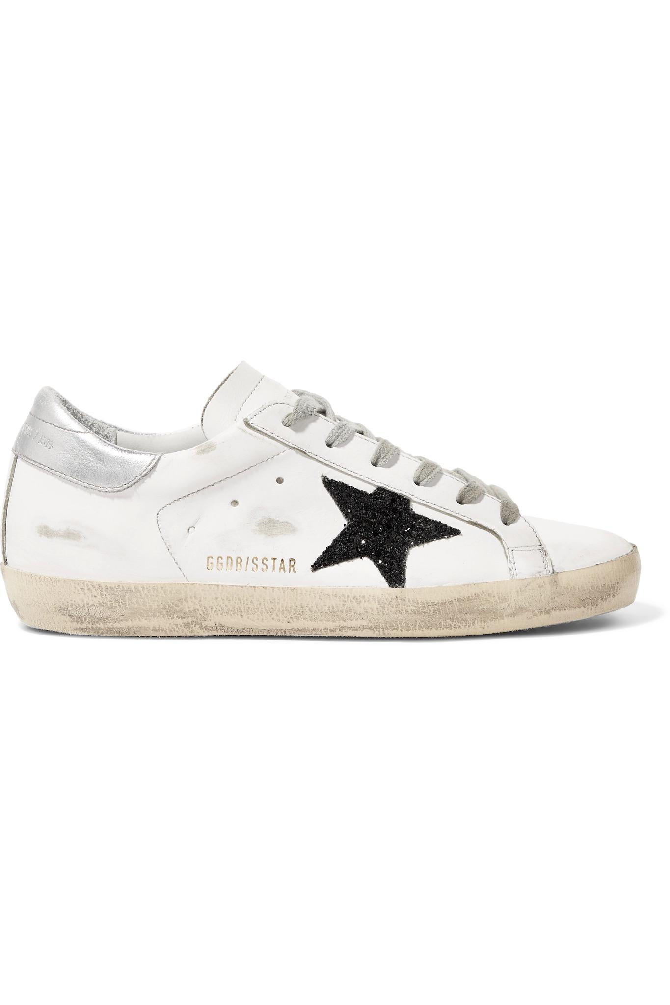Superstar Distressed Velvet And Leather Sneakers - Fuchsia Golden Goose WAdO8