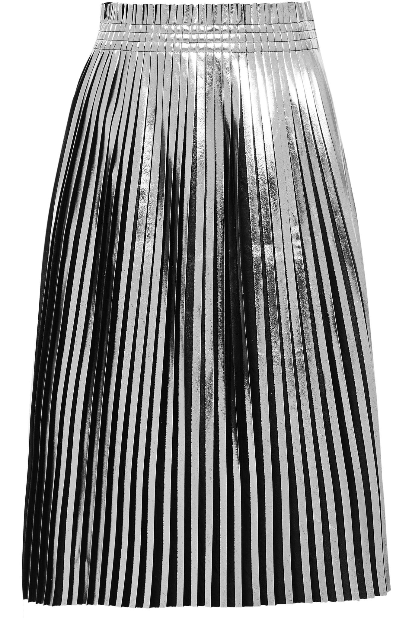 Buy Cheap The Cheapest pleated metallic skirt - Black Maison Martin Margiela Clearance Get Authentic 58BbpA3svA
