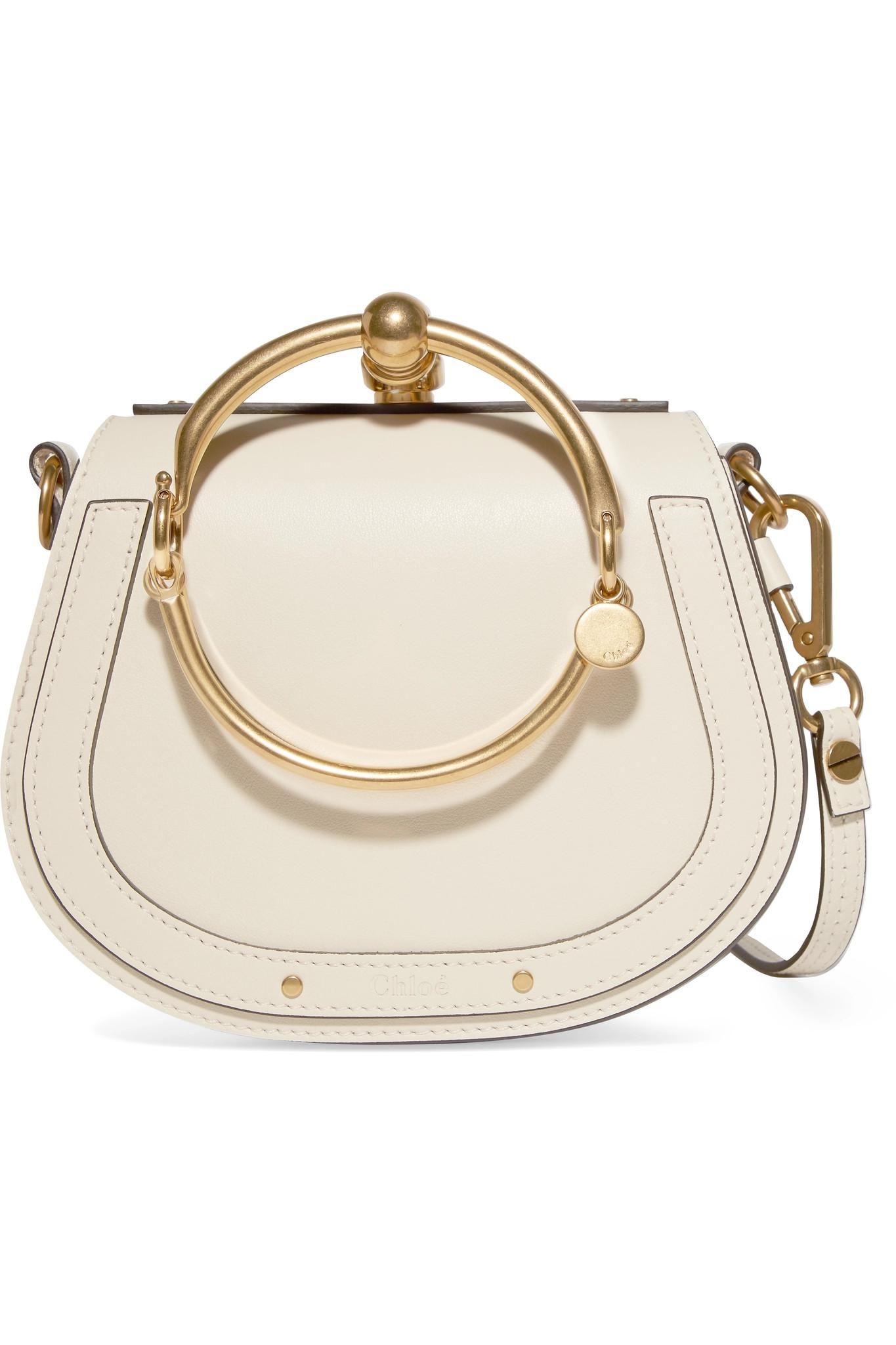 6fad06bf95 Chloé Nile Bracelet Small Leather And Suede Shoulder Bag in White - Lyst