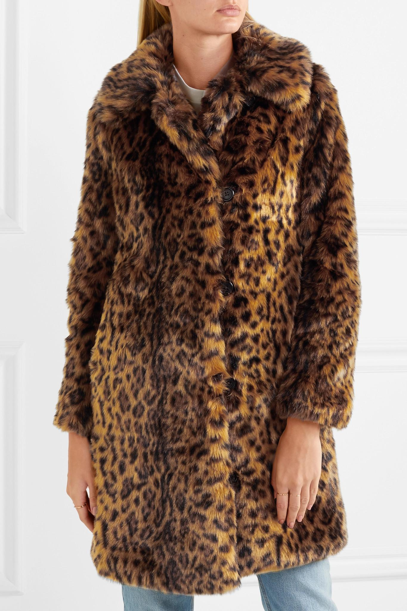 0a696f06b0 J.Crew - Brown Leopard-print Faux Fur Coat - Lyst. View fullscreen