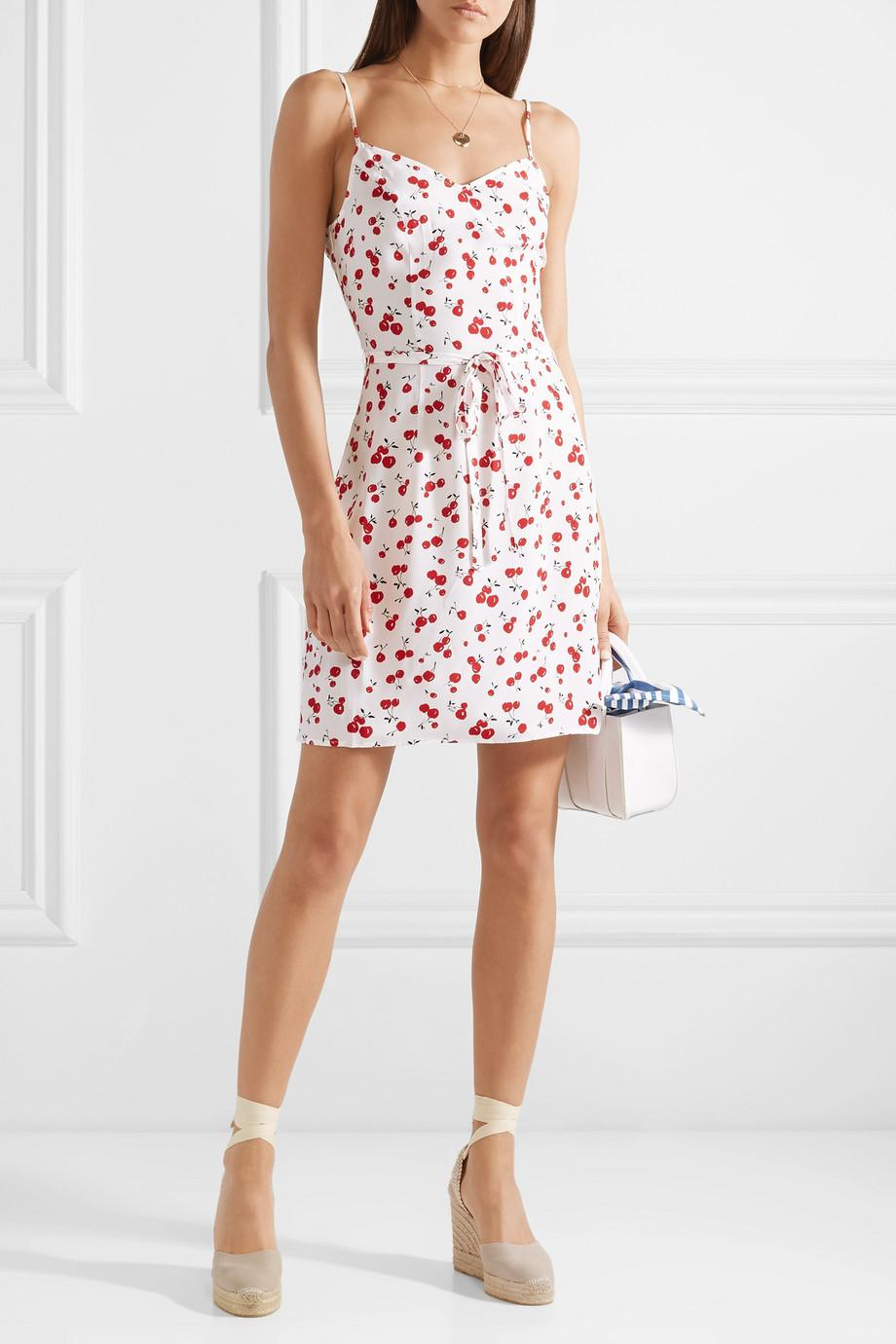 Free Shipping Pick A Best Lily Printed Silk Crepe De Chine Mini Dress - White HVN Outlet Cheap Price Best Choice Discount Manchester Sneakernews qWyZbMU0Q