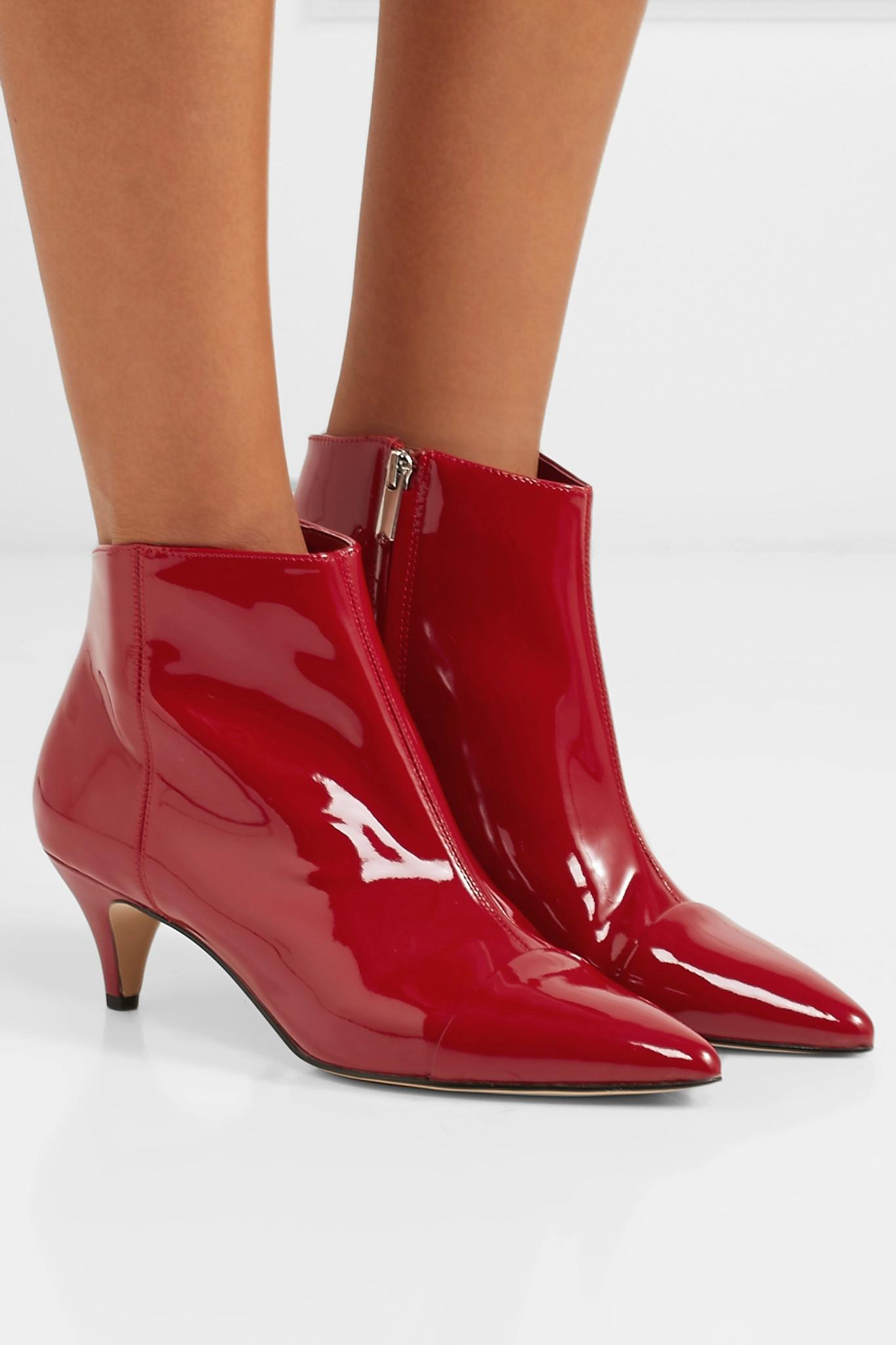 bb6d846ade3d33 Lyst - Sam Edelman Kinzey Patent-leather Ankle Boots in Red
