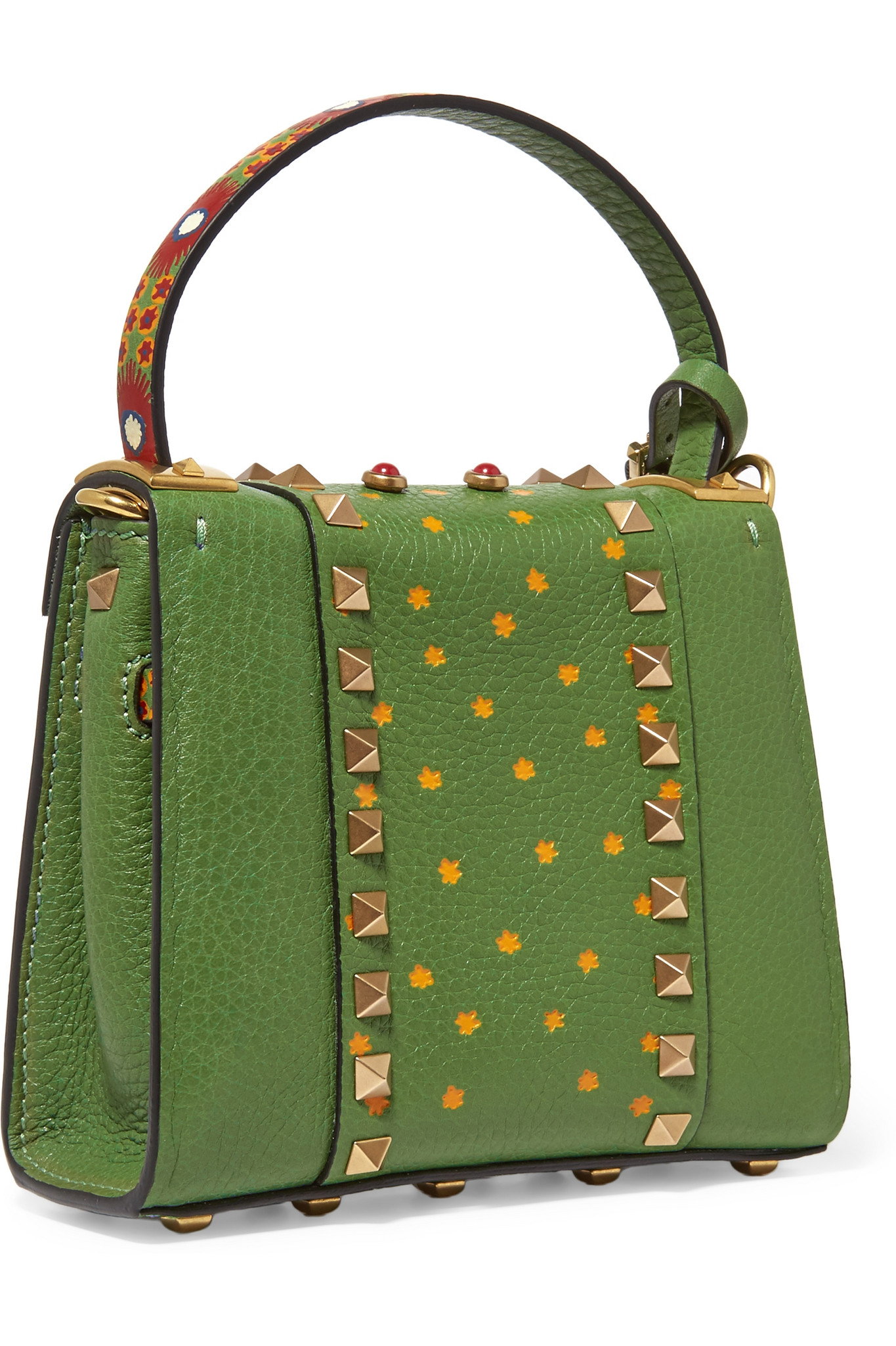 Valentino My Rockstud Micro Printed Leather Shoulder Bag in Green ...