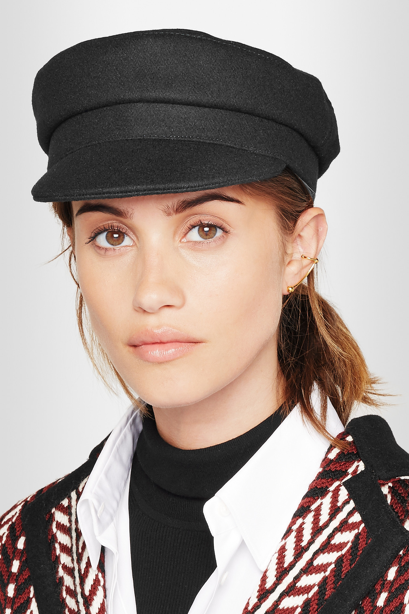 Lyst 201 Toile Isabel Marant Evie Wool Blend Felt Hat In Black