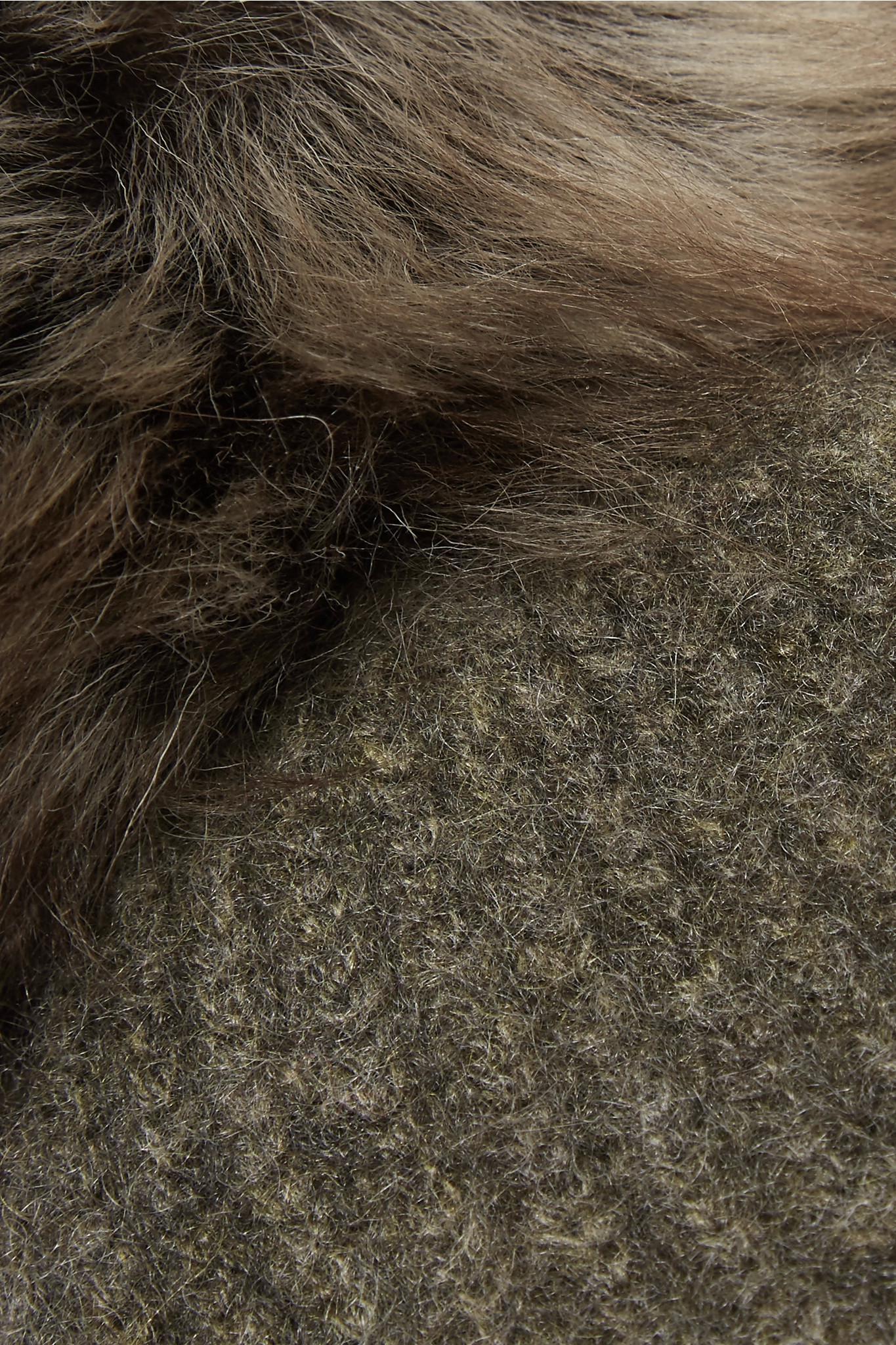 Pompom-embellished Ribbed Cashmere Beanie - Gray Karl Donoghue y9Zj6