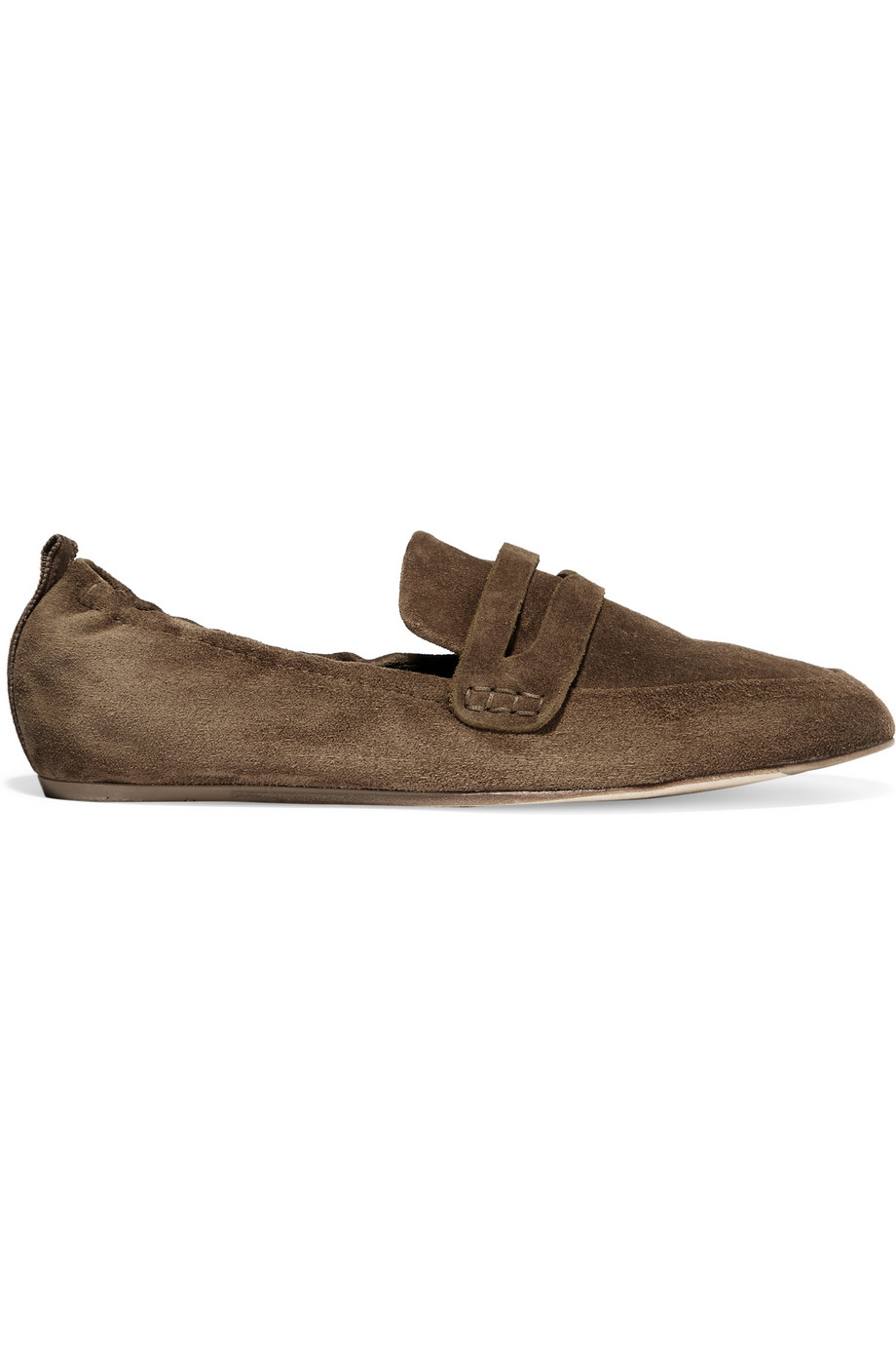 lanvin suede slippers in brown lyst