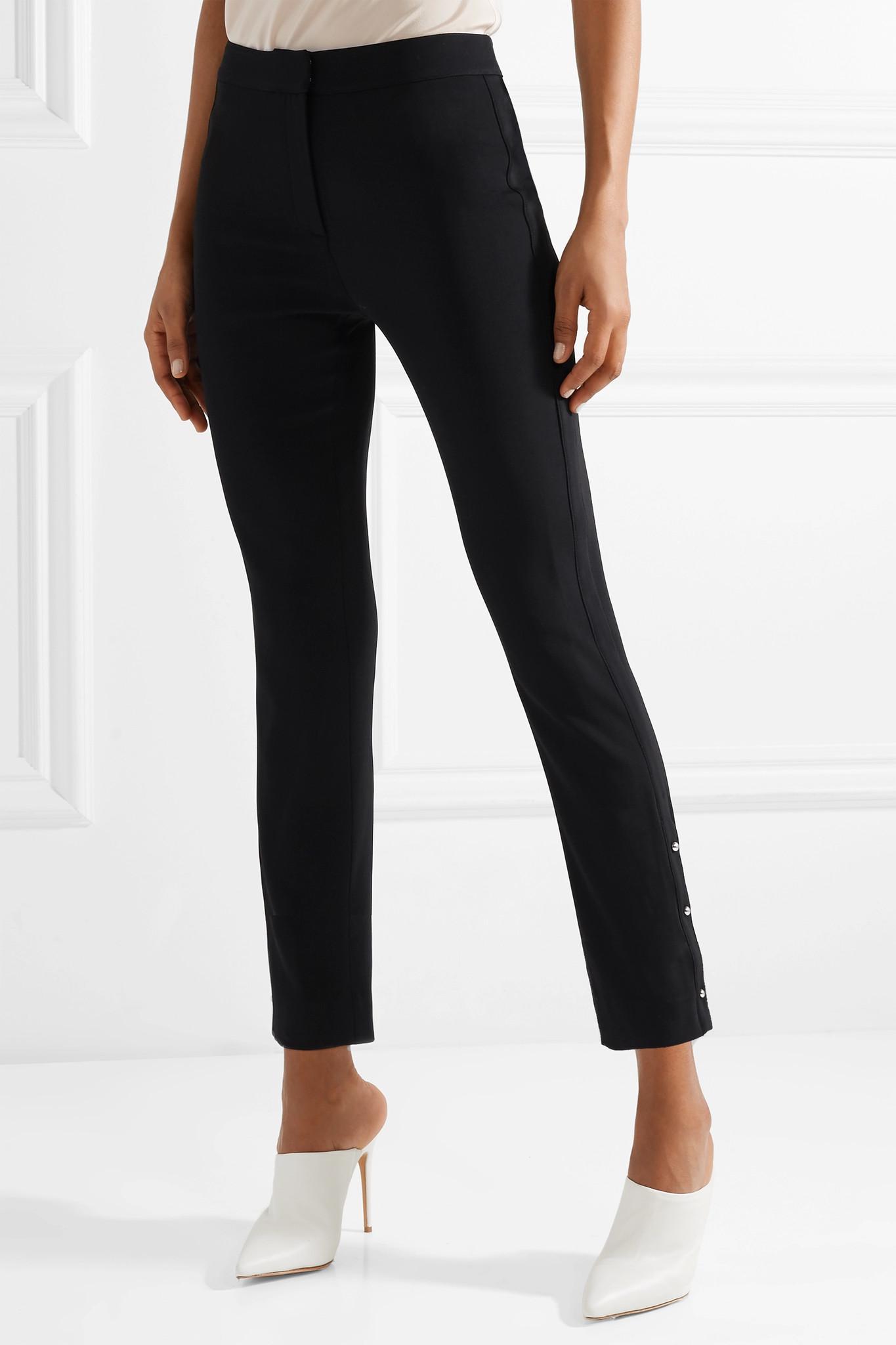 Embellished Stretch-woven Straight-leg Pants - Black Jason Wu RafeVjMGJV