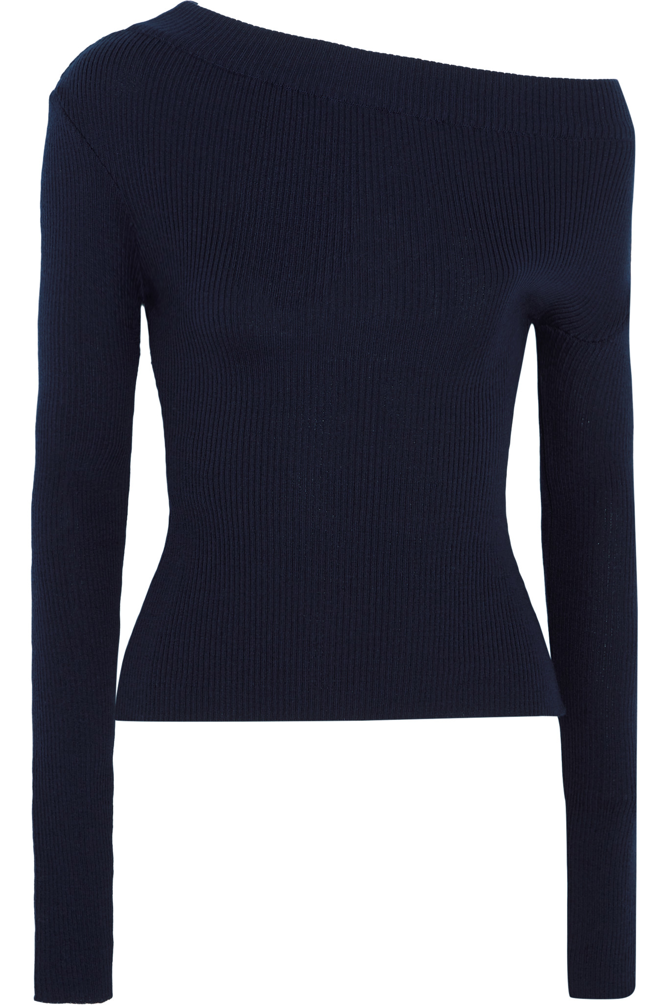 b93becc159d73 Lyst - Jacquemus One-shoulder Ribbed Wool Sweater in Blue