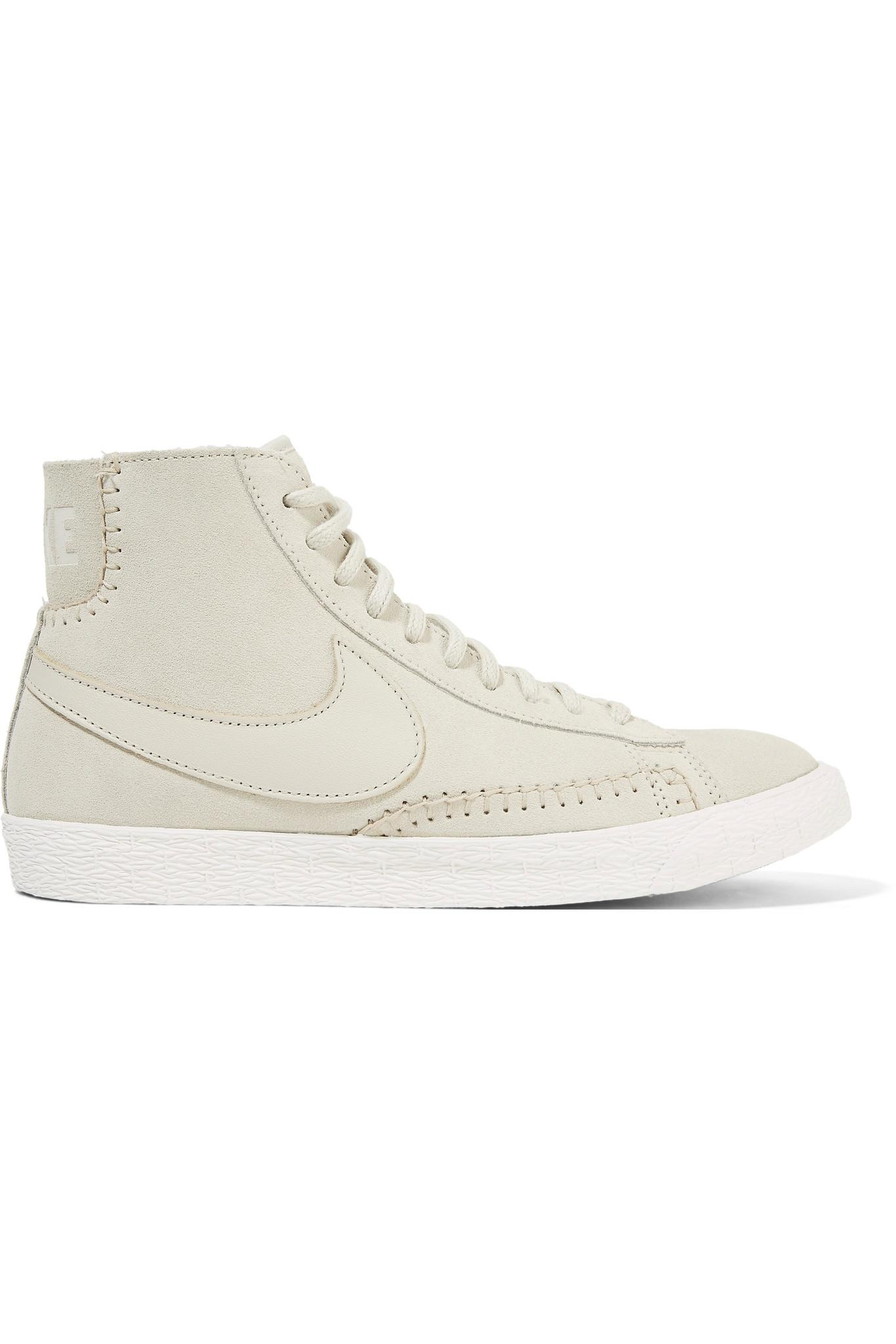 nike blazer mid suede and shearling high-top sneakers women