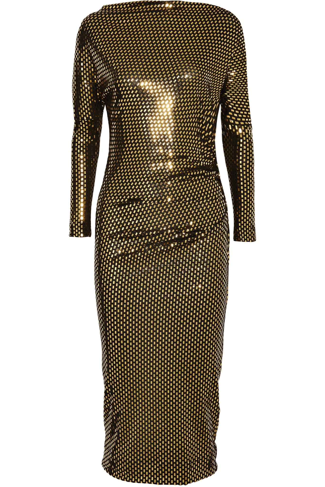 Vivienne westwood anglomania draped metallic printed midi for The net a porter