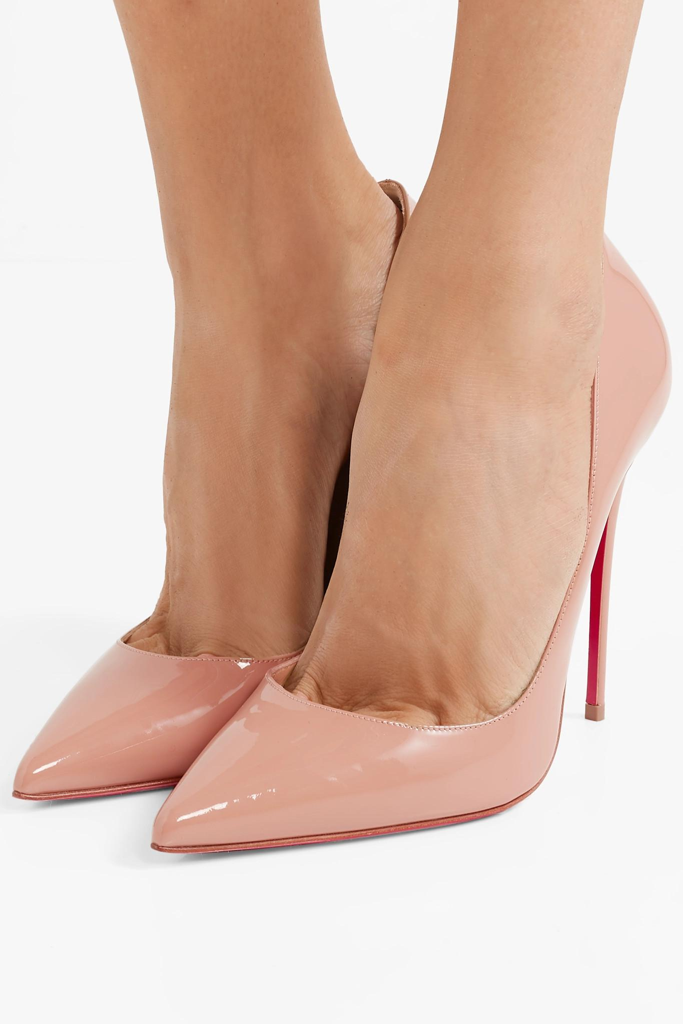 dcfc29c2fc3 Christian Louboutin - Natural So Kate 120 Patent-leather Pumps - Lyst. View  fullscreen