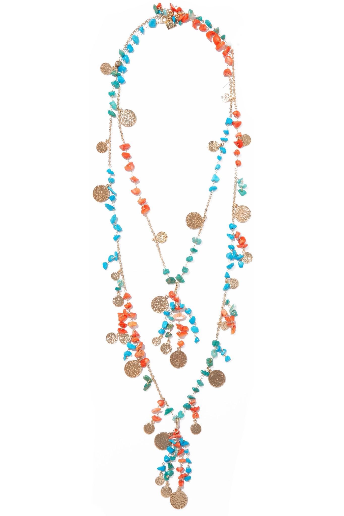 Rosantica fishbone bead necklace - Blue MnWHpO5UP
