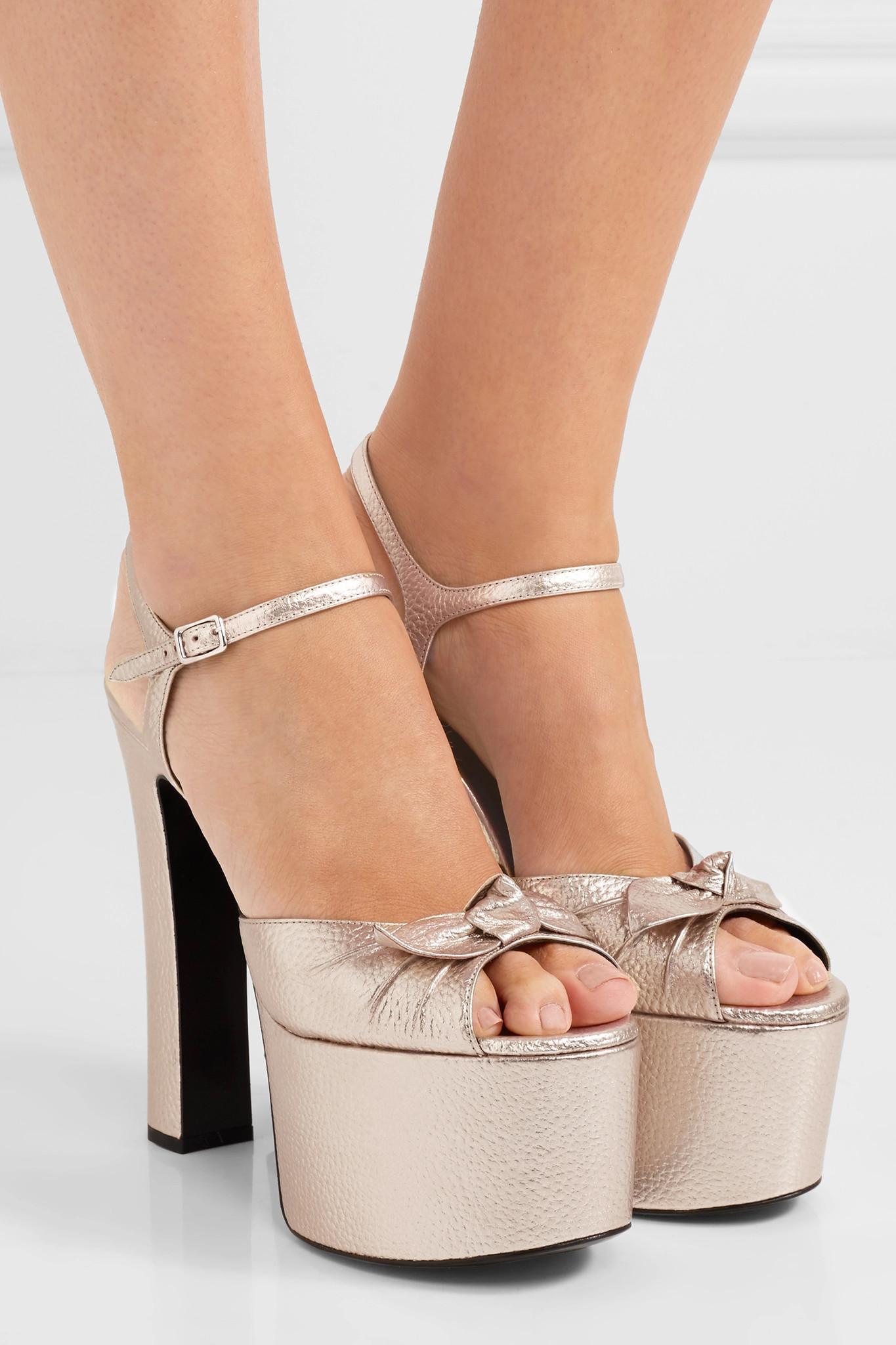 a087f2d883b4 Saint Laurent Embellished Leather Sandals