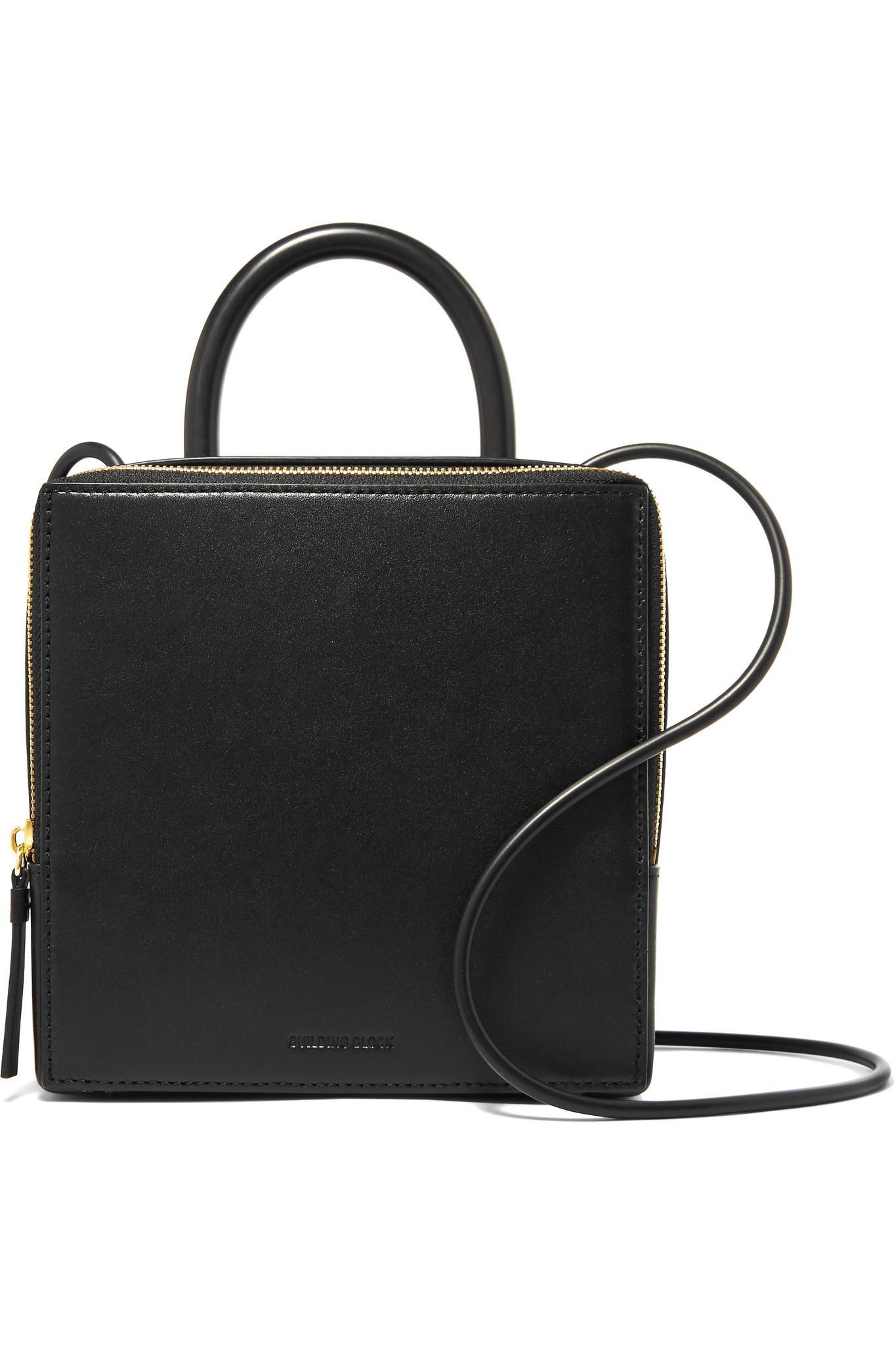 Box Leather Shoulder Bag - Black Building Block wZaQjA