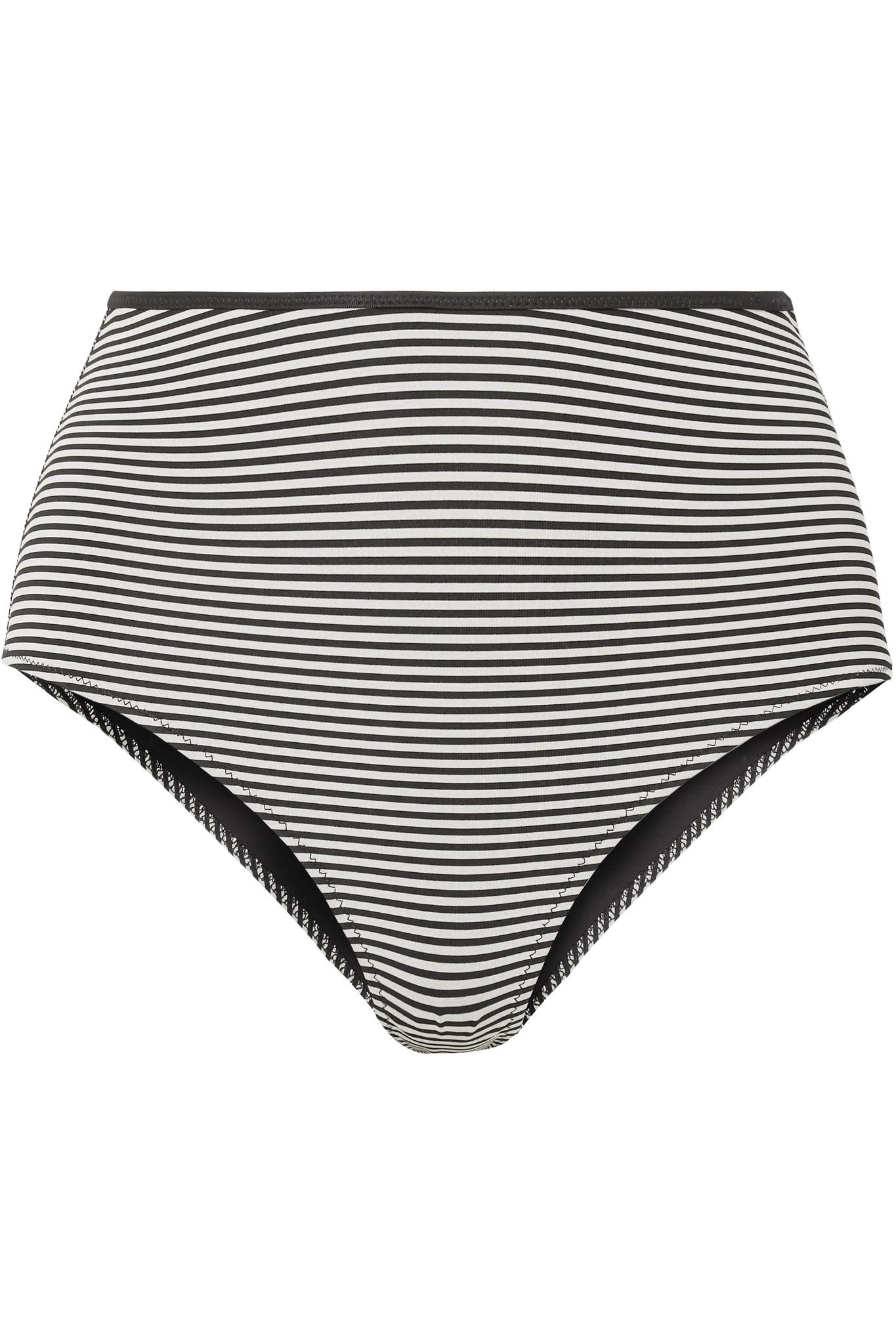 46f2c15befb Lyst - Marysia Swim Tarpum Bay Reversible Striped Bikini Briefs in Black