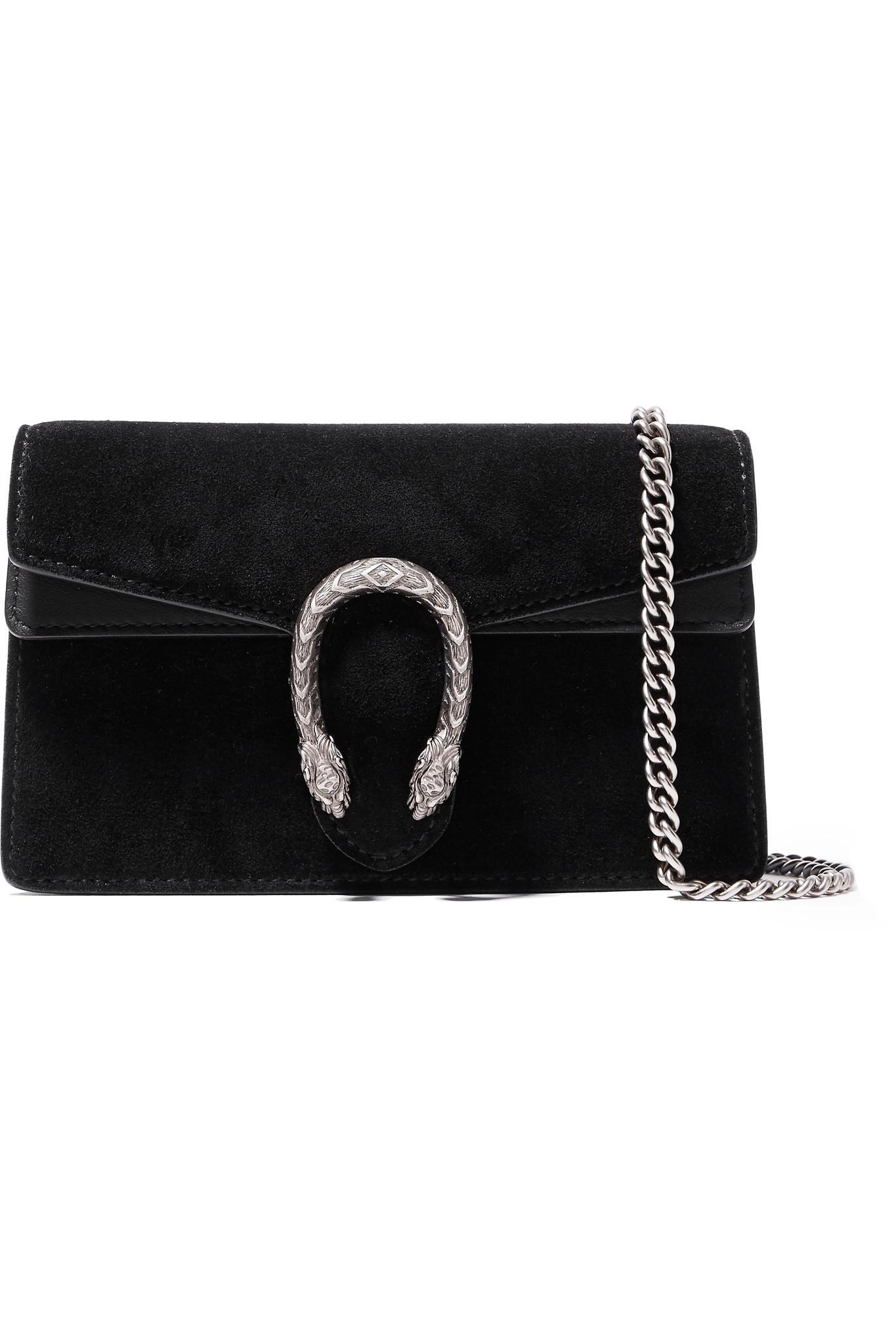 0cc04aafff39 Gucci Dionysus Super Mini Shoulder Bag in Black - Save 9% - Lyst