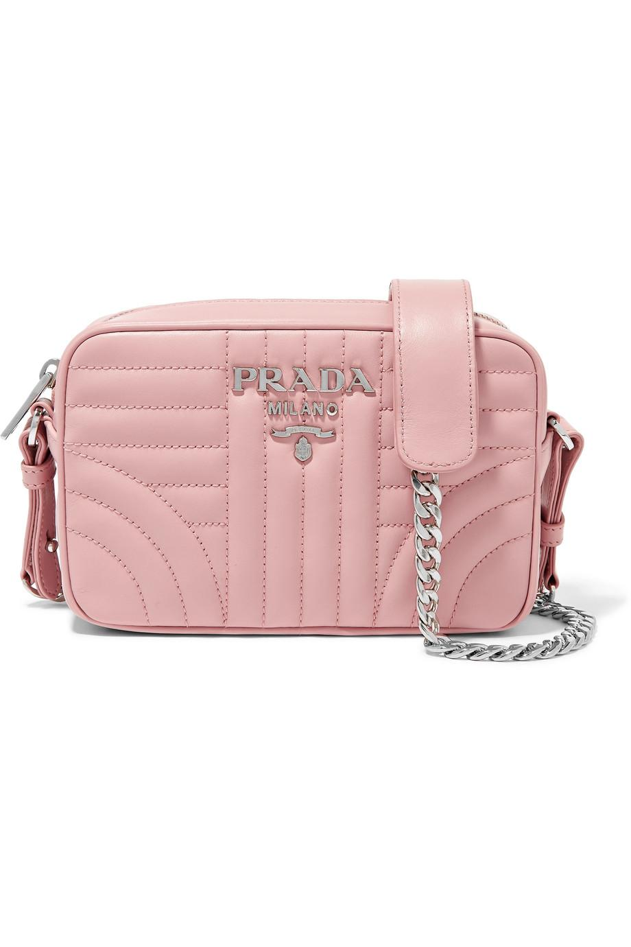 Quilted Leather Camera Bag - Pink Prada m8kAPi