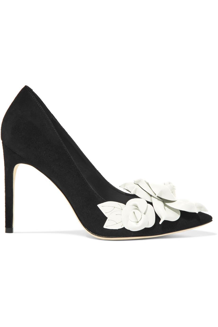 Jumbo Pompes En Daim Floral-lilico - Sophia Appliques Noir Webster ebYm85Ro