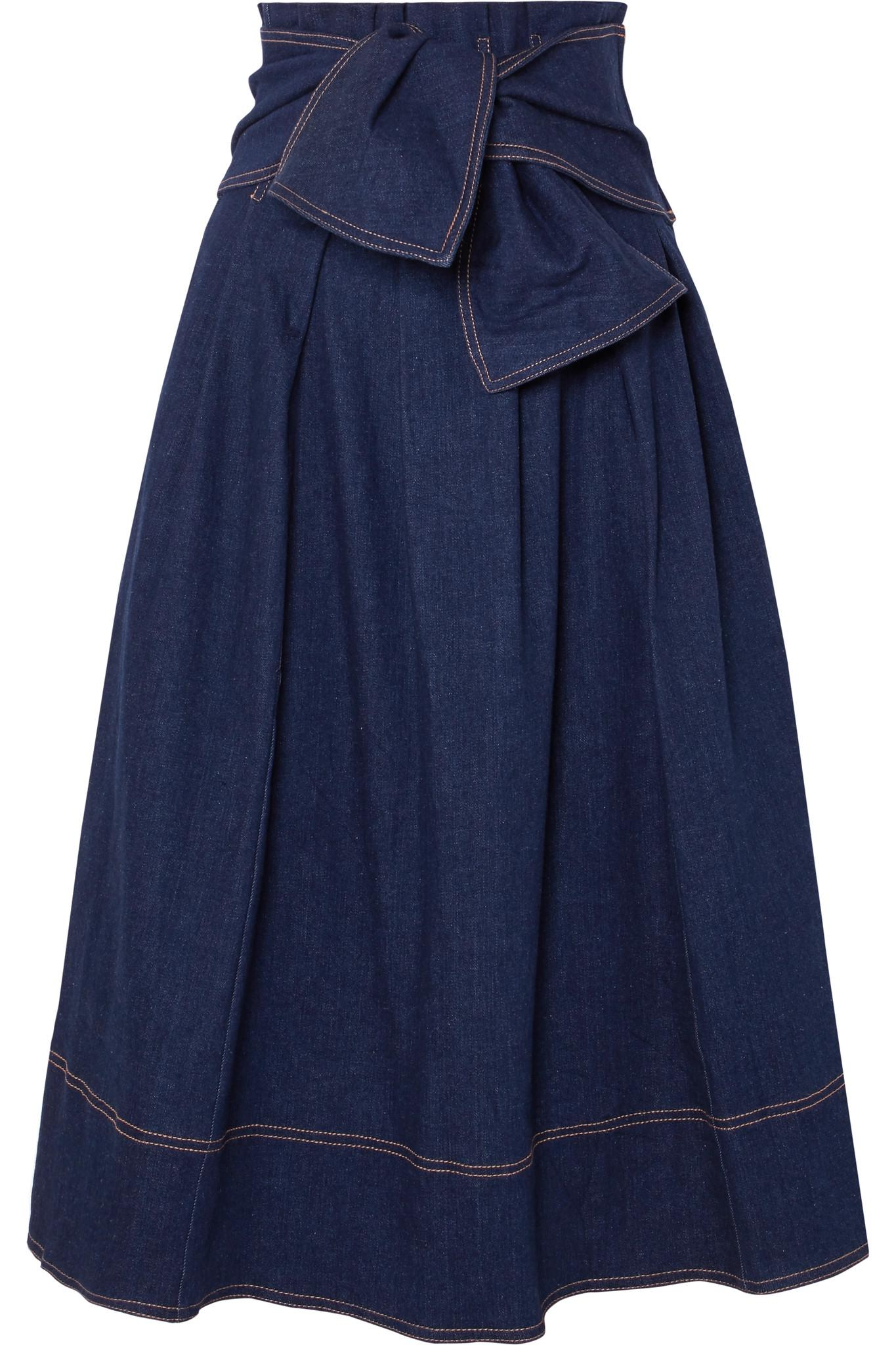 b247414ea6ea Ulla Johnson Virgil Skirt in Blue - Lyst
