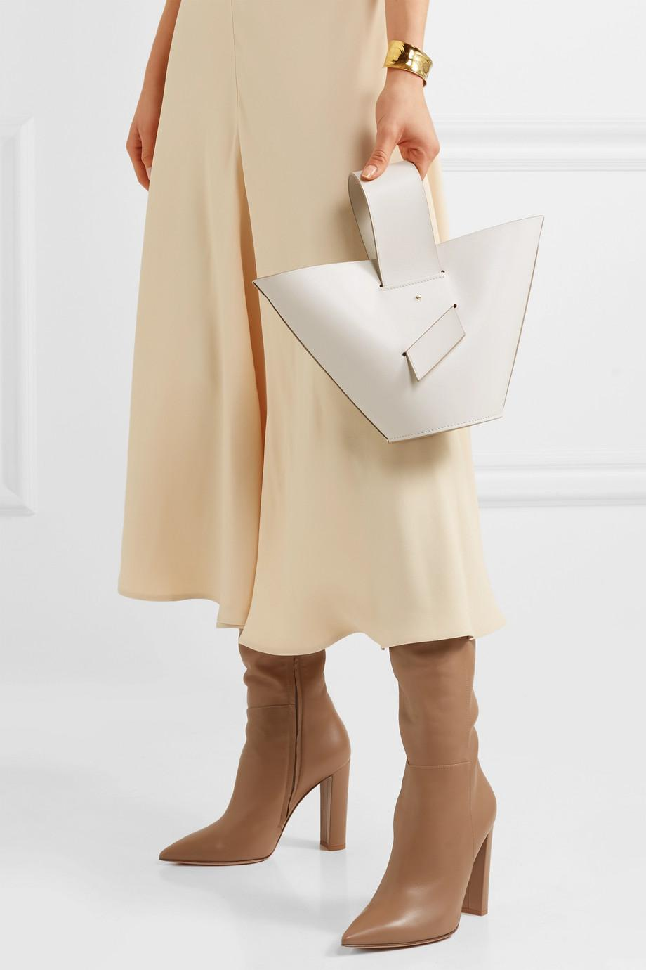 Amphora Leather Tote - White Carolina Santo Domingo Cheap From China Shop Offer Shopping Online Cheap Price Purchase Cheap For Sale For Sale 5Ue5zL