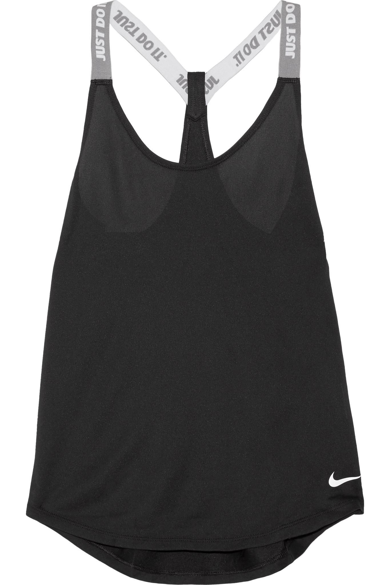 Nike Elastika Stretch Jersey Tank In Black Lyst