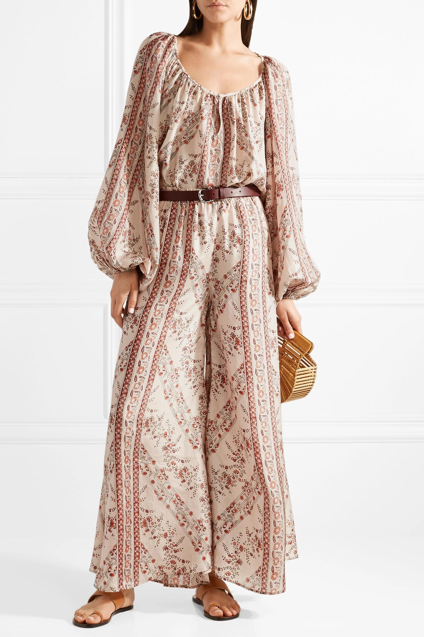 Bogdan Printed Washed-silk Wide-leg Pants - Antique rose Mes Demoiselles... 6Lo1AxBCly