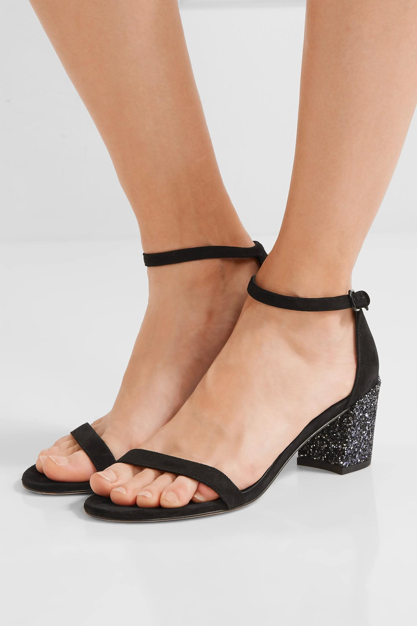 Simple Black Wedge Shoes