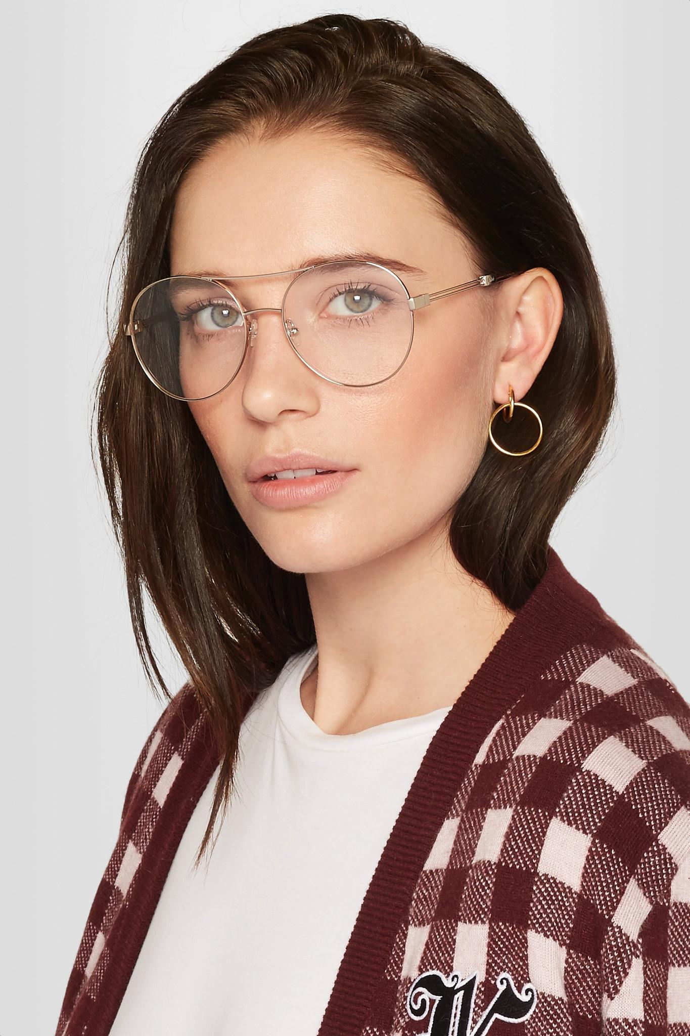 Lyst Chlo 233 Jacky Round Frame Metal Optical Glasses In