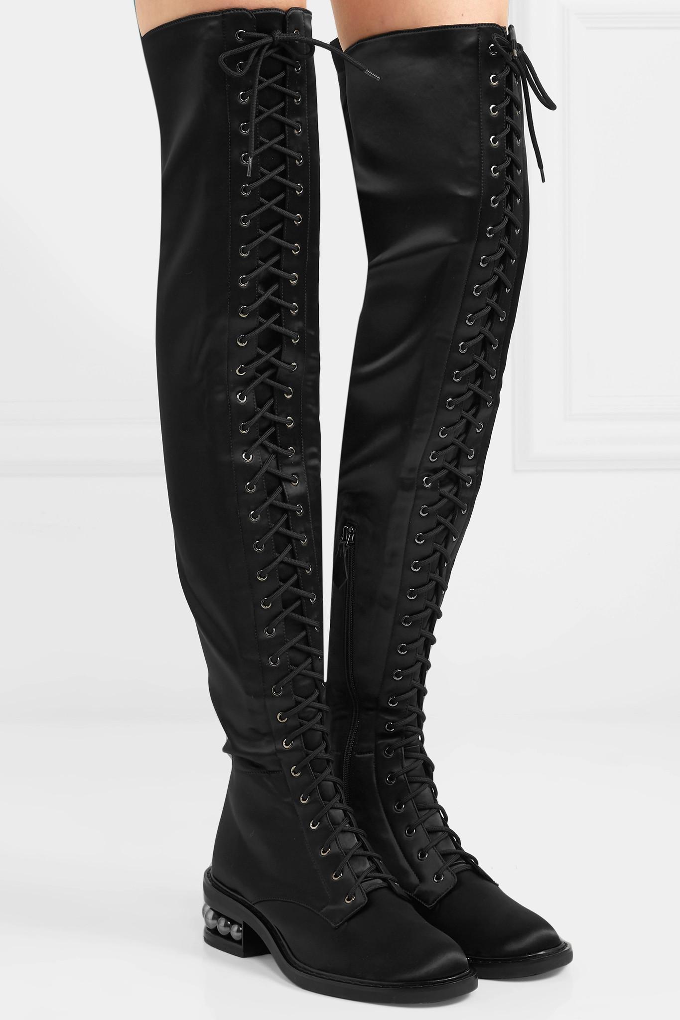 af6e6994e nicholas-kirkwood-black-Casati-Embellished-Stretch-satin-Over-the-knee-Boots .jpeg