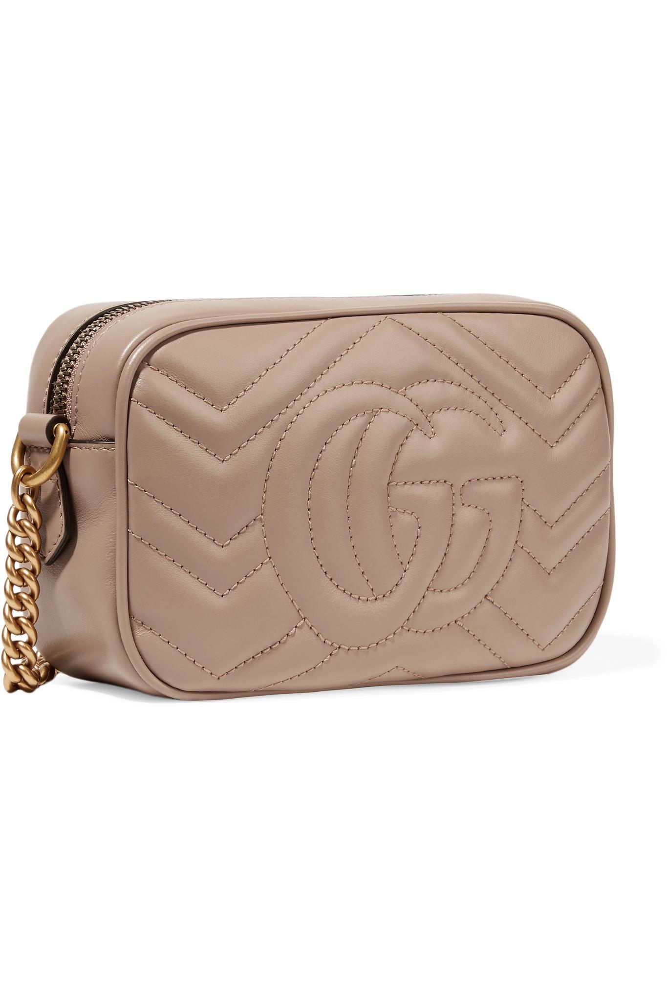 5cdfd9f2523e Gucci - Multicolor Gg Marmont Camera Mini Quilted Leather Shoulder Bag -  Lyst. View fullscreen