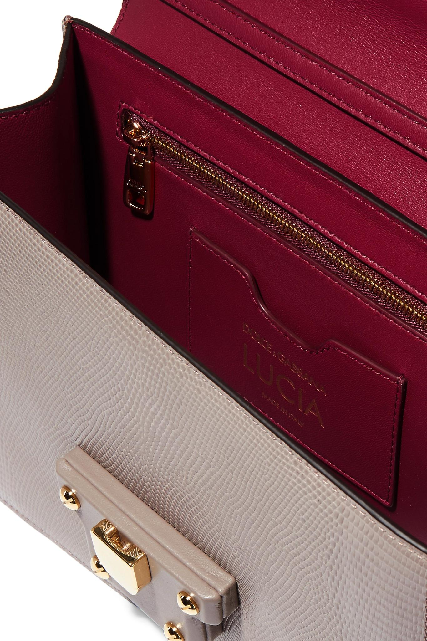dolce gabbana woman lizard effect leather shoulder bag gray new style 5e800  bfce6 3099779aa3