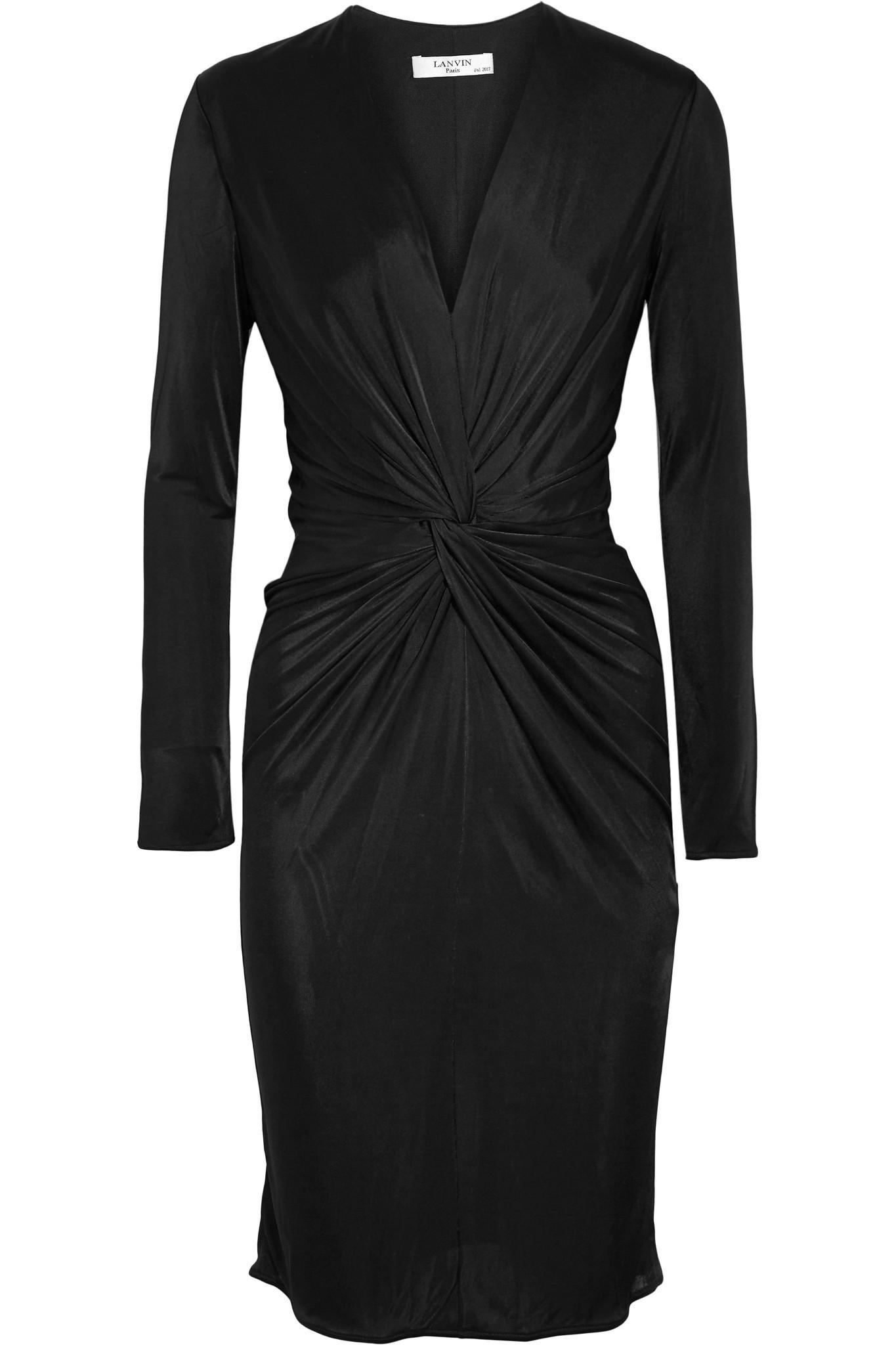 Lanvin Woman Twist-front Jersey Dress Black Size 42 Lanvin IaNZIMp