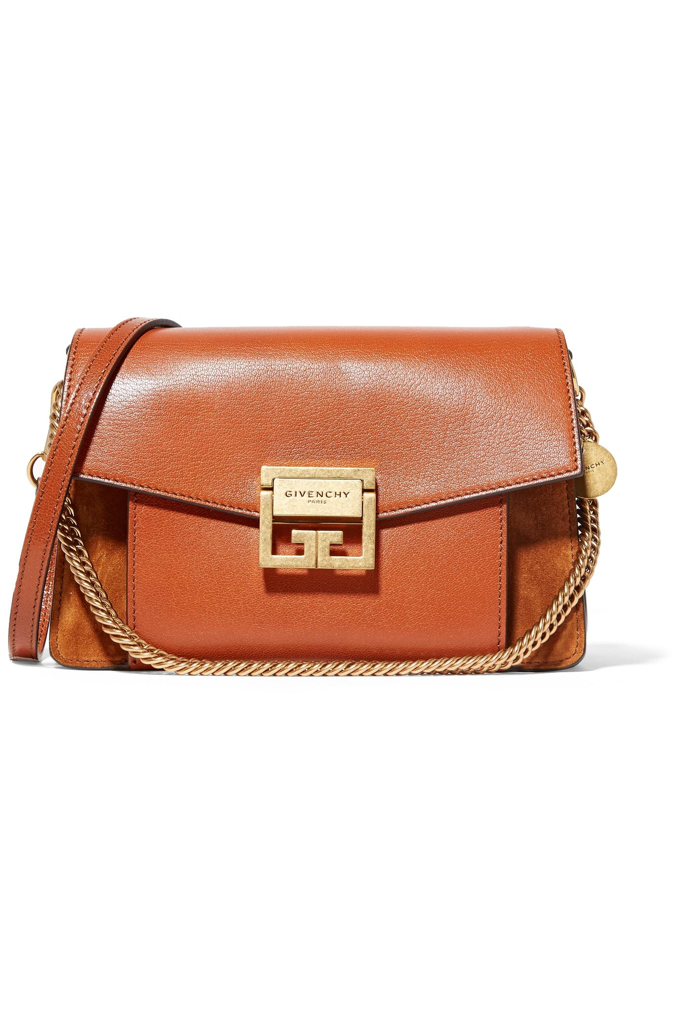 GIVENCHY - GV3 suede leather shoulder bag NDDHOJ