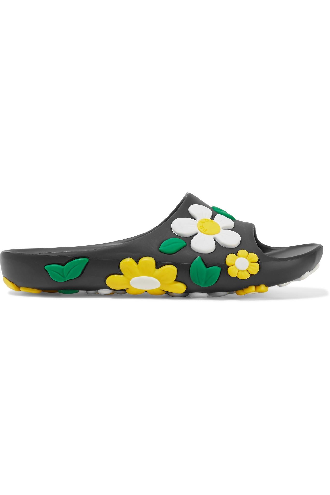 f4b8e0e592cf Prada Floral Slide Sandal - Ontario Active School Travel