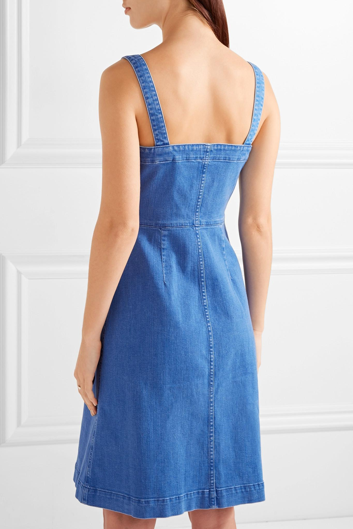 457cd6d3e6 Lyst - Stella mccartney Linda Stretch-denim Dress in Blue