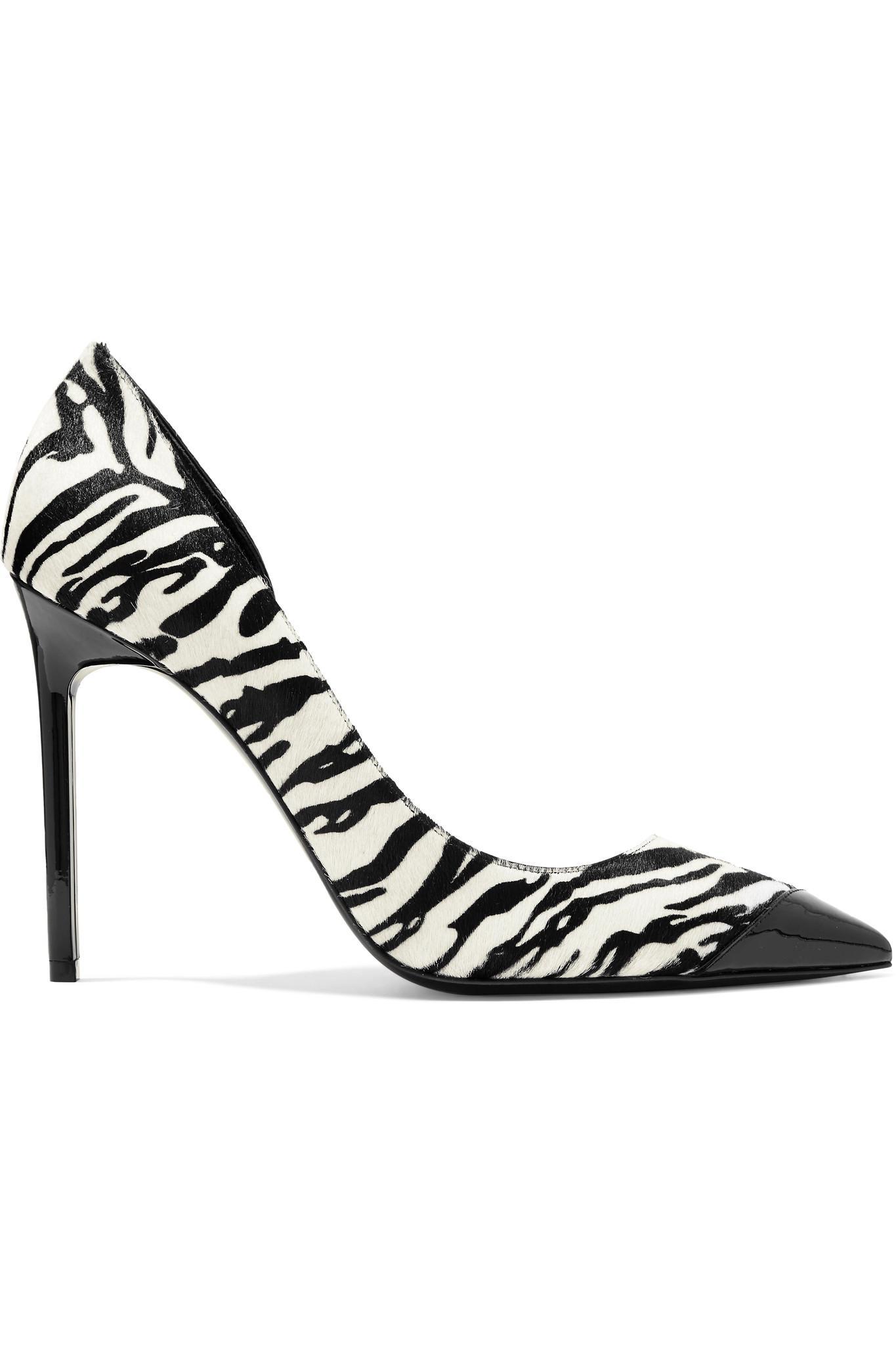Saint Laurent Zebra Print Leather Heels wGVhAP