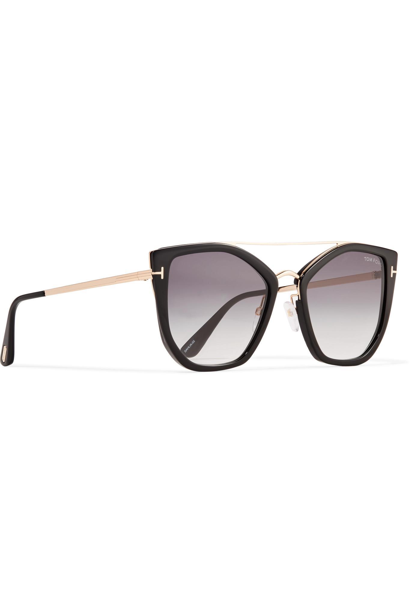 1aa059200d2e Tom Ford - Black Dahlia Cat-eye Acetate And Gold-tone Sunglasses - Lyst.  View fullscreen