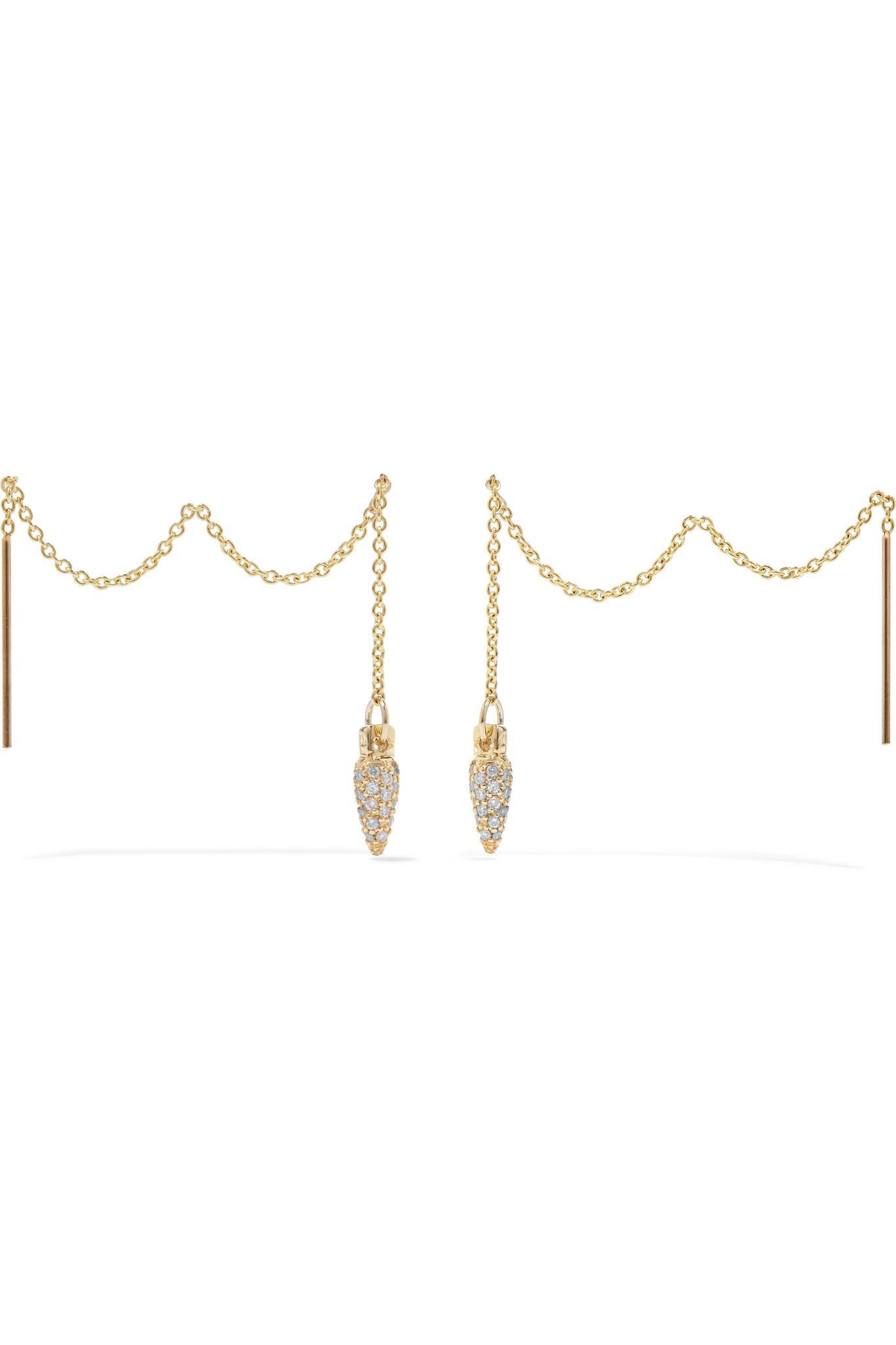 Pamela Love 10-karat Gold Diamond Earrings TTPjAuZhl